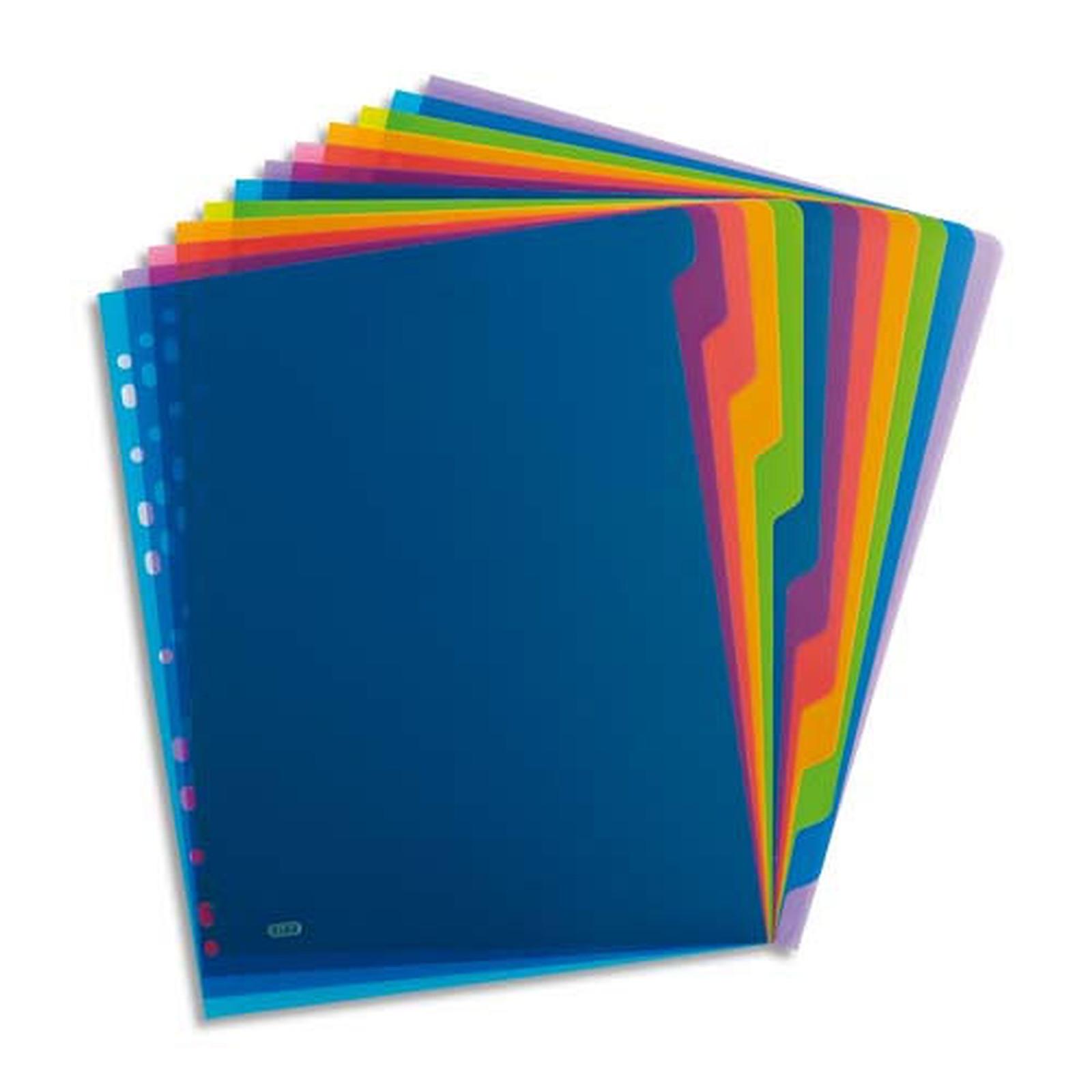 Elba Intercalaires Format A4 12 touches - Assortis