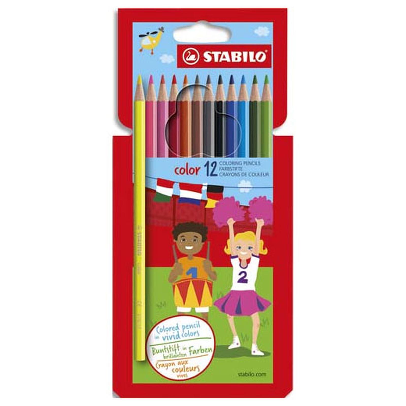 Stabilo Color - 12 crayons assortis
