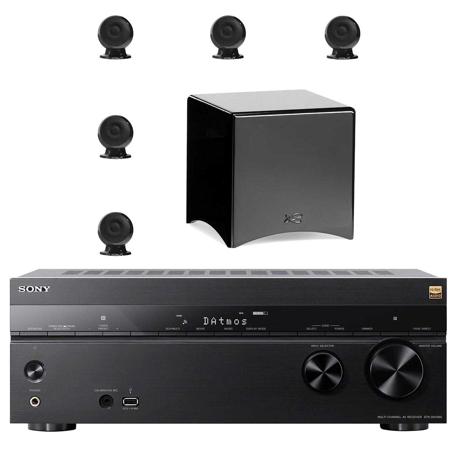 Sony STR-DN1080 + Cabasse pack Eole 3 5.1 WS Noir