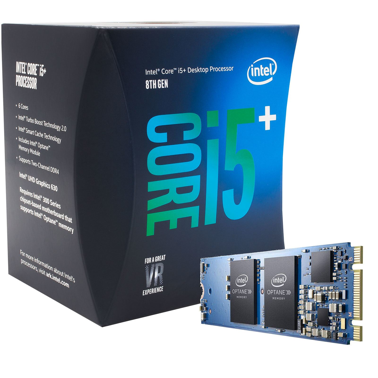 Intel Core i5-8500 (3.0 GHz) + Intel Optane 16 Go M.2 NVMe