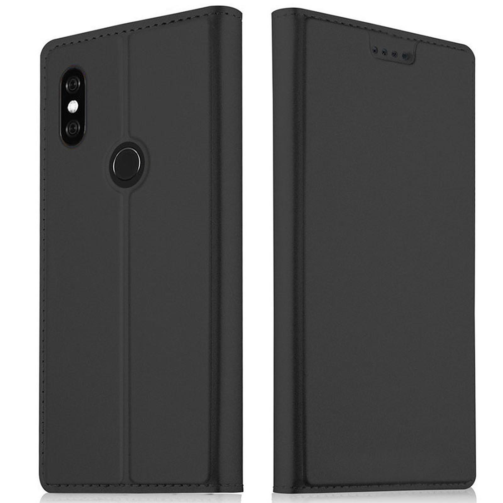Akashi Etui Folio Porte Carte Noir Xiaomi Mi A2 Lite