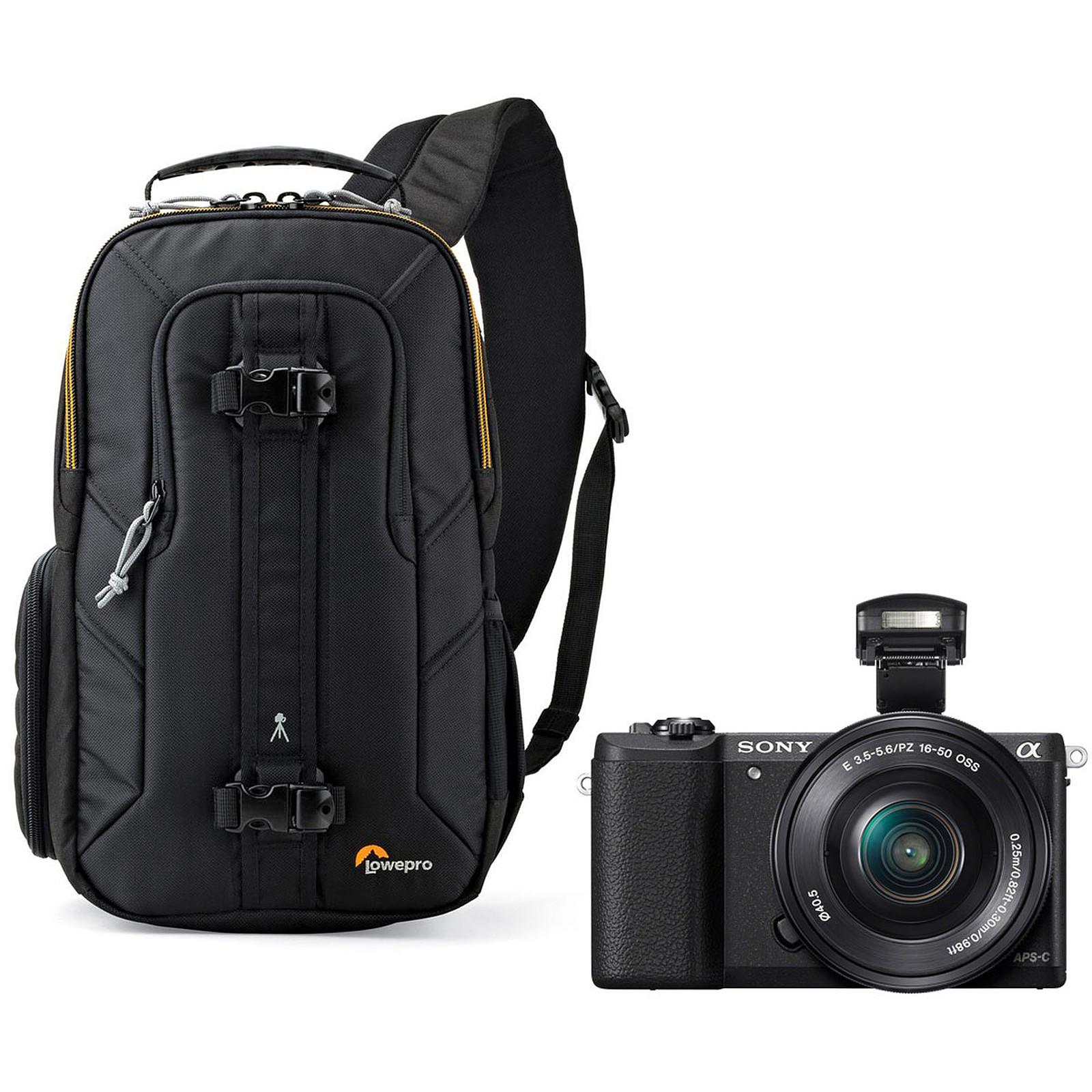 Sony Alpha 5100 + Objectif 16-50 mm Noir + Lowepro Slingshot Edge 150 AW
