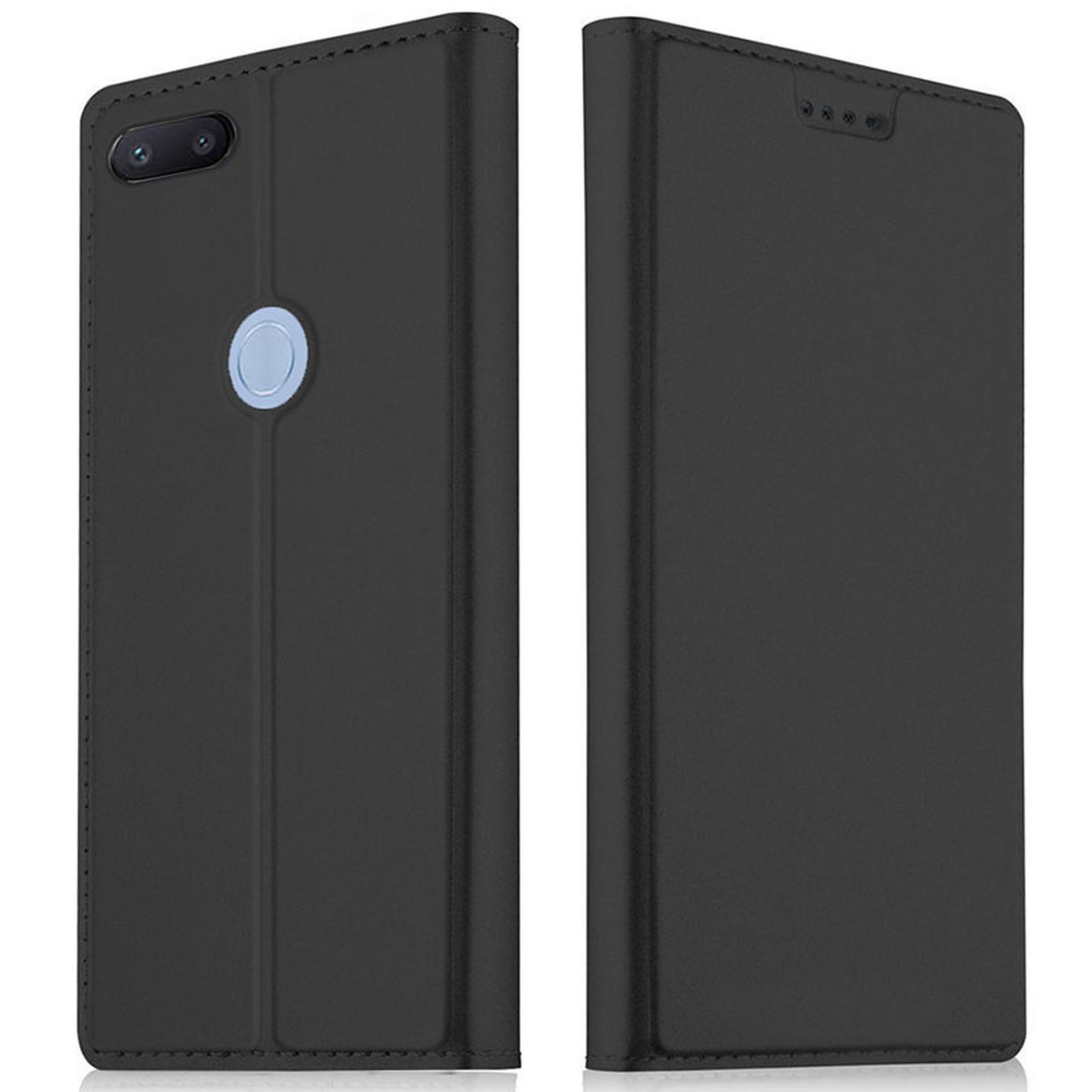 Akashi Etui Folio Porte Carte Noir Xiaomi Redmi 6