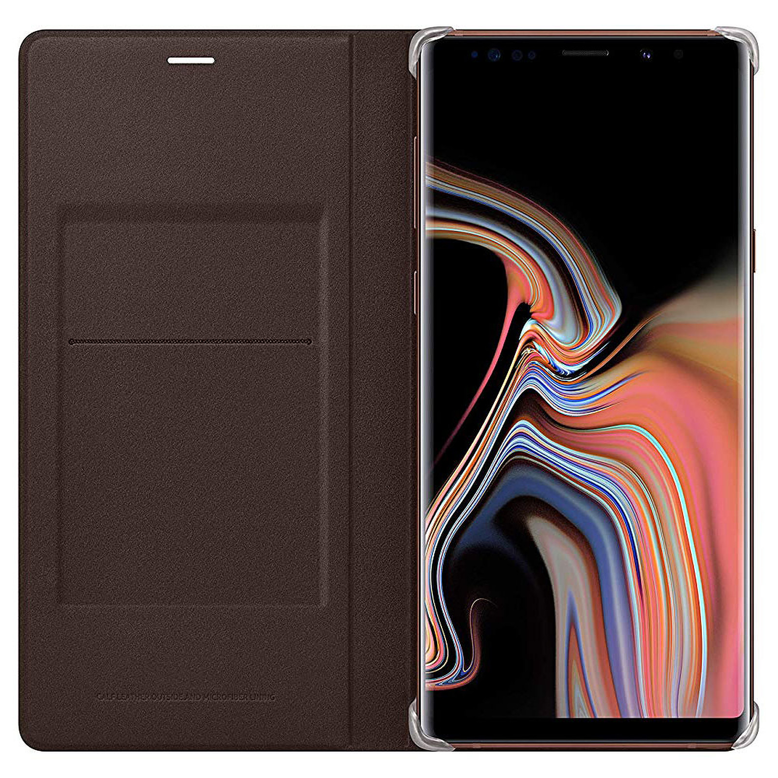 Samsung Flip Wallet Marron Galaxy Note 9