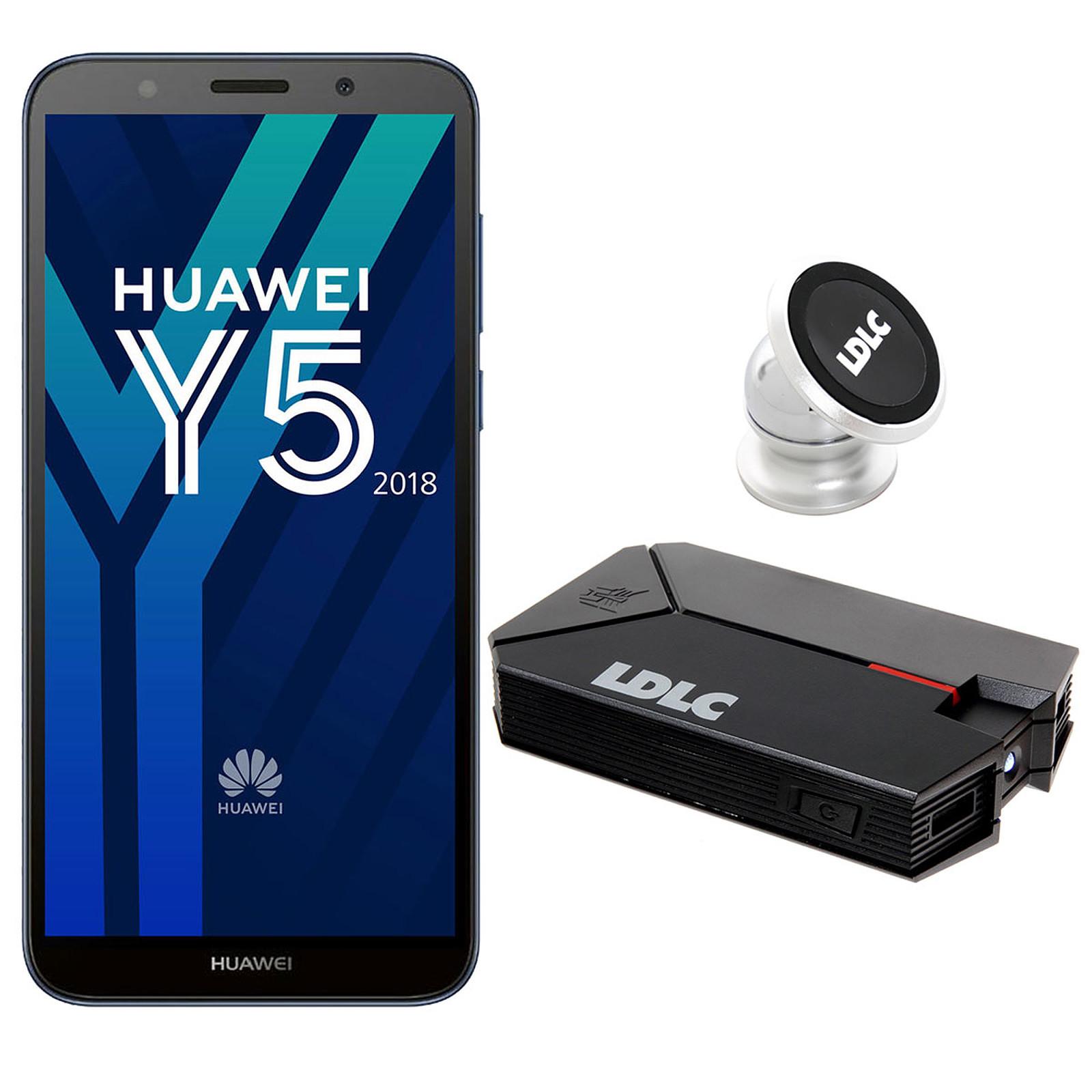 Huawei Y5 2018 Bleu + LDLC Power Bank QS10K + Auto S1