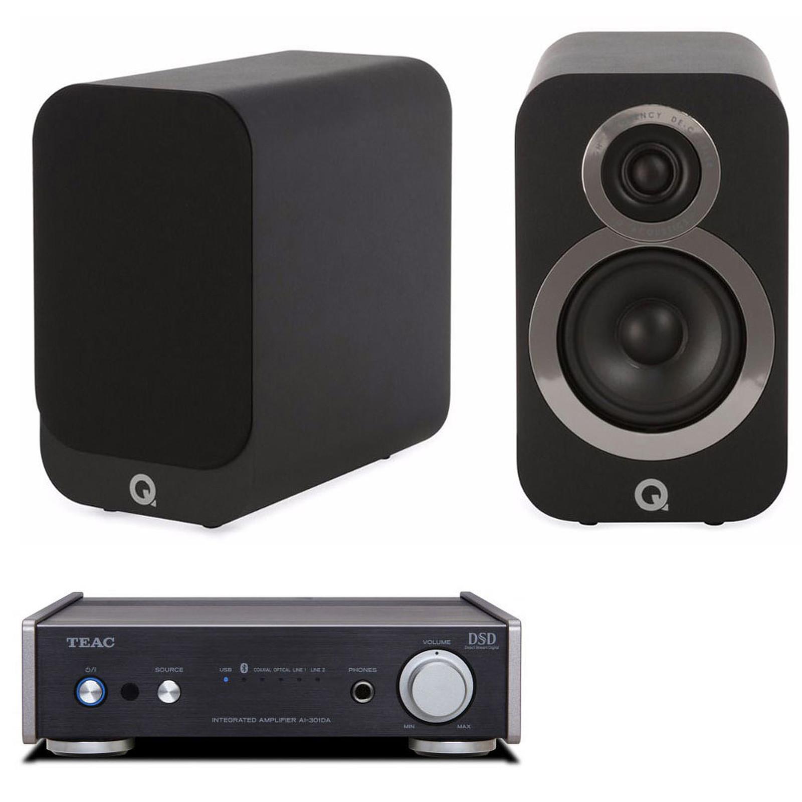 Teac AI-301DA Noir + Q Acoustics 3010i Noir