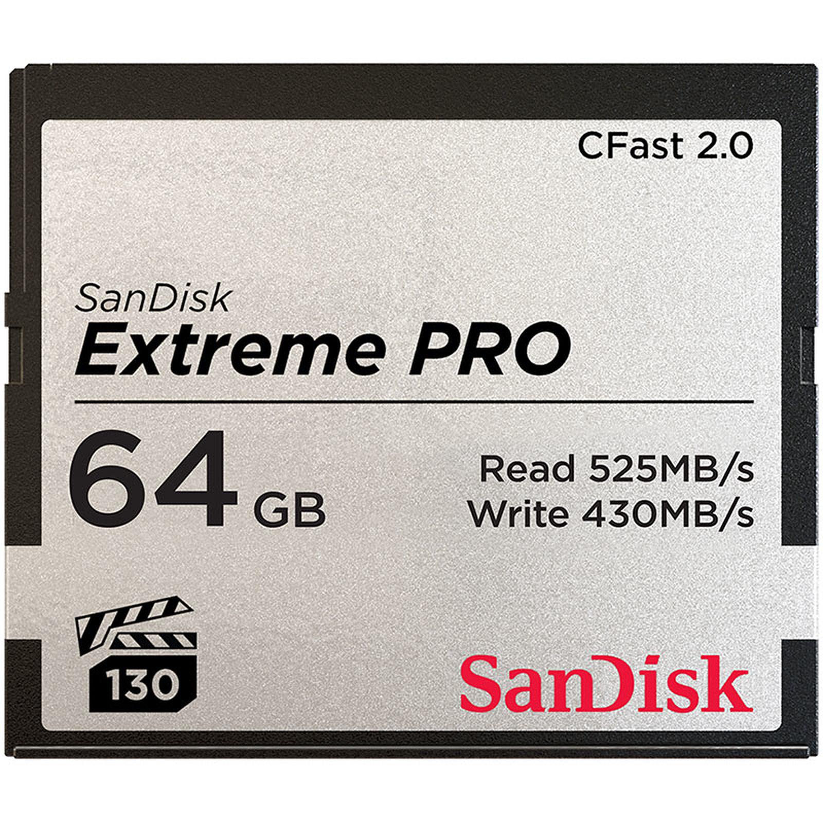SanDisk Carte mémoire Extreme Pro CompactFlash CFast 2.0 64 Go