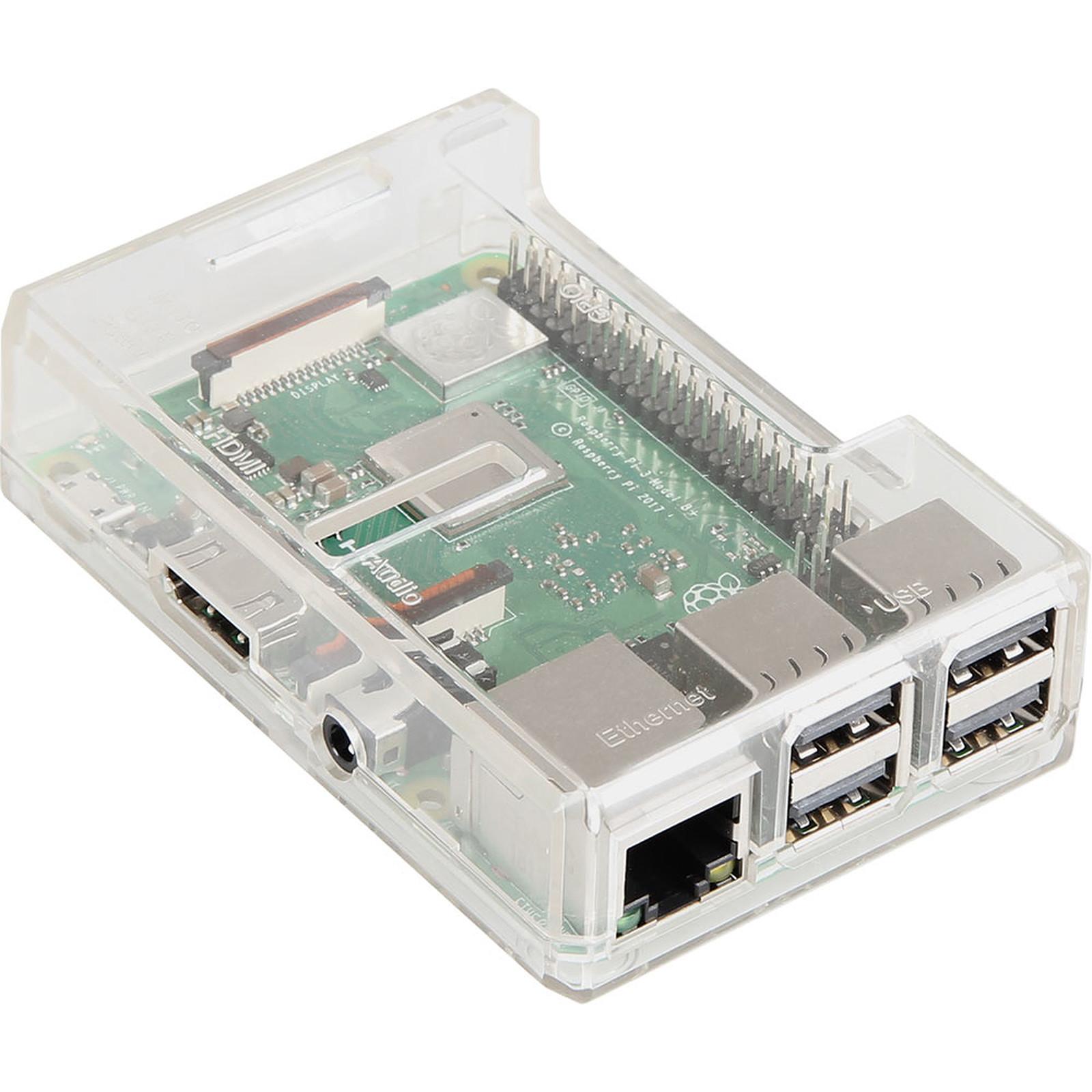 JOY-iT boîtier pour Raspberry Pi 3/2/1 (transparent)
