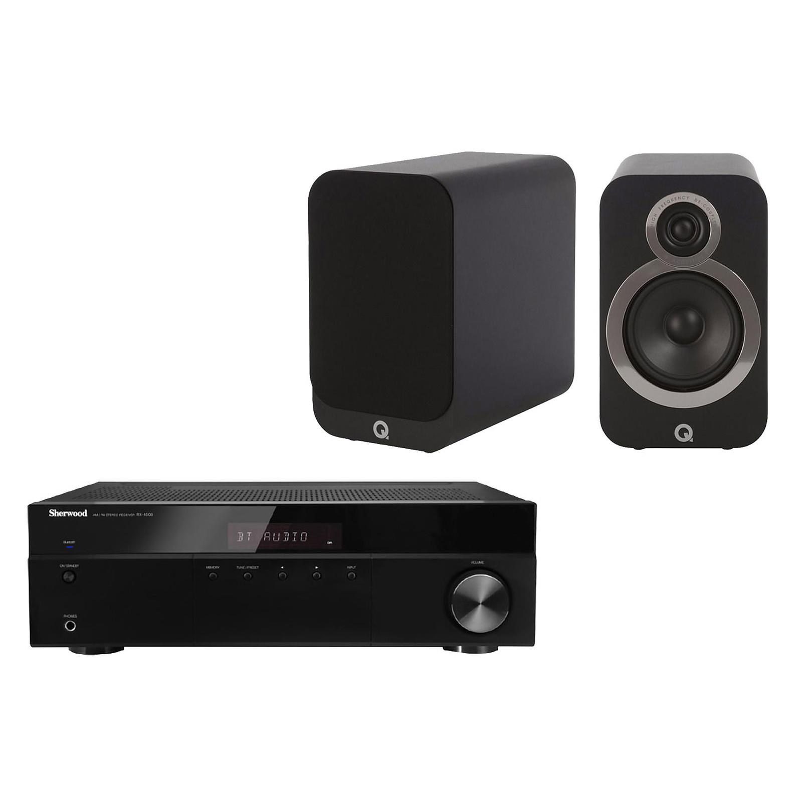 Sherwood RX-4508 + Q Acoustics 3020i Noir