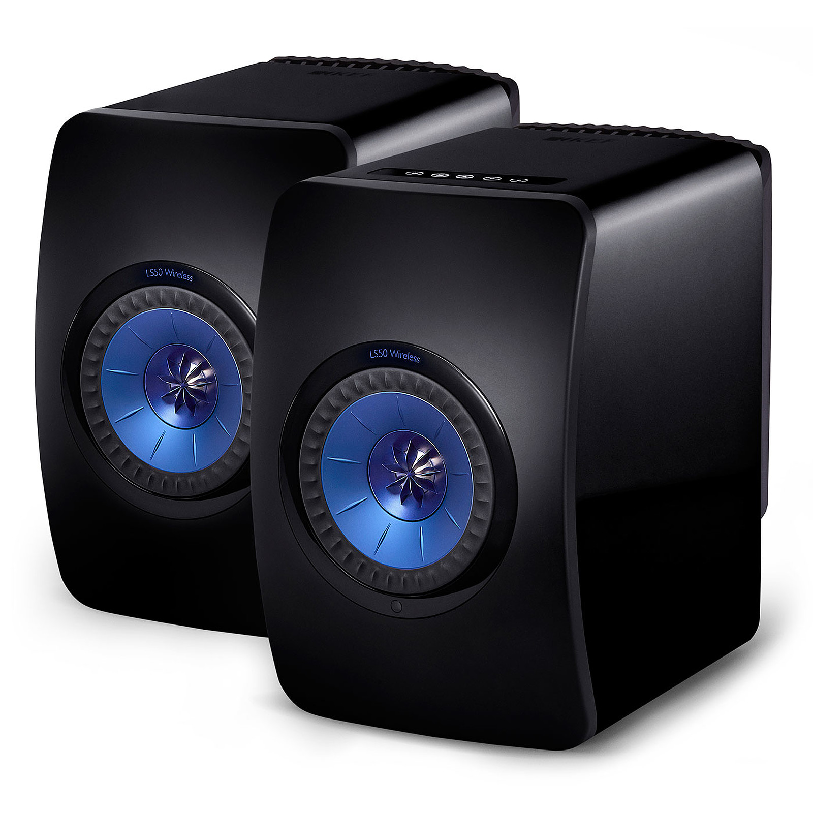 KEF LS50 Wireless Noir brillant / Bleu