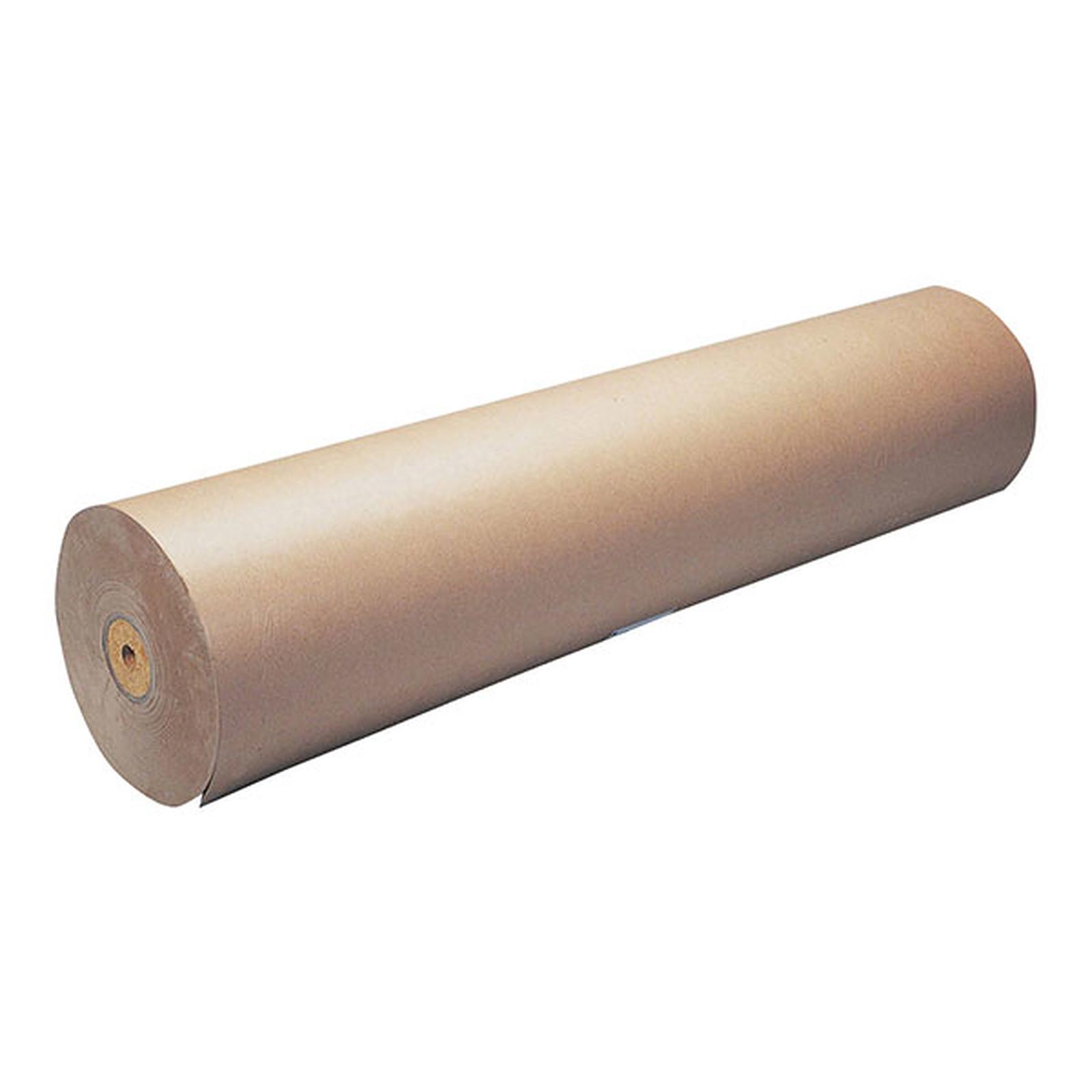 Bobine papier kraft brun 1m x 25m