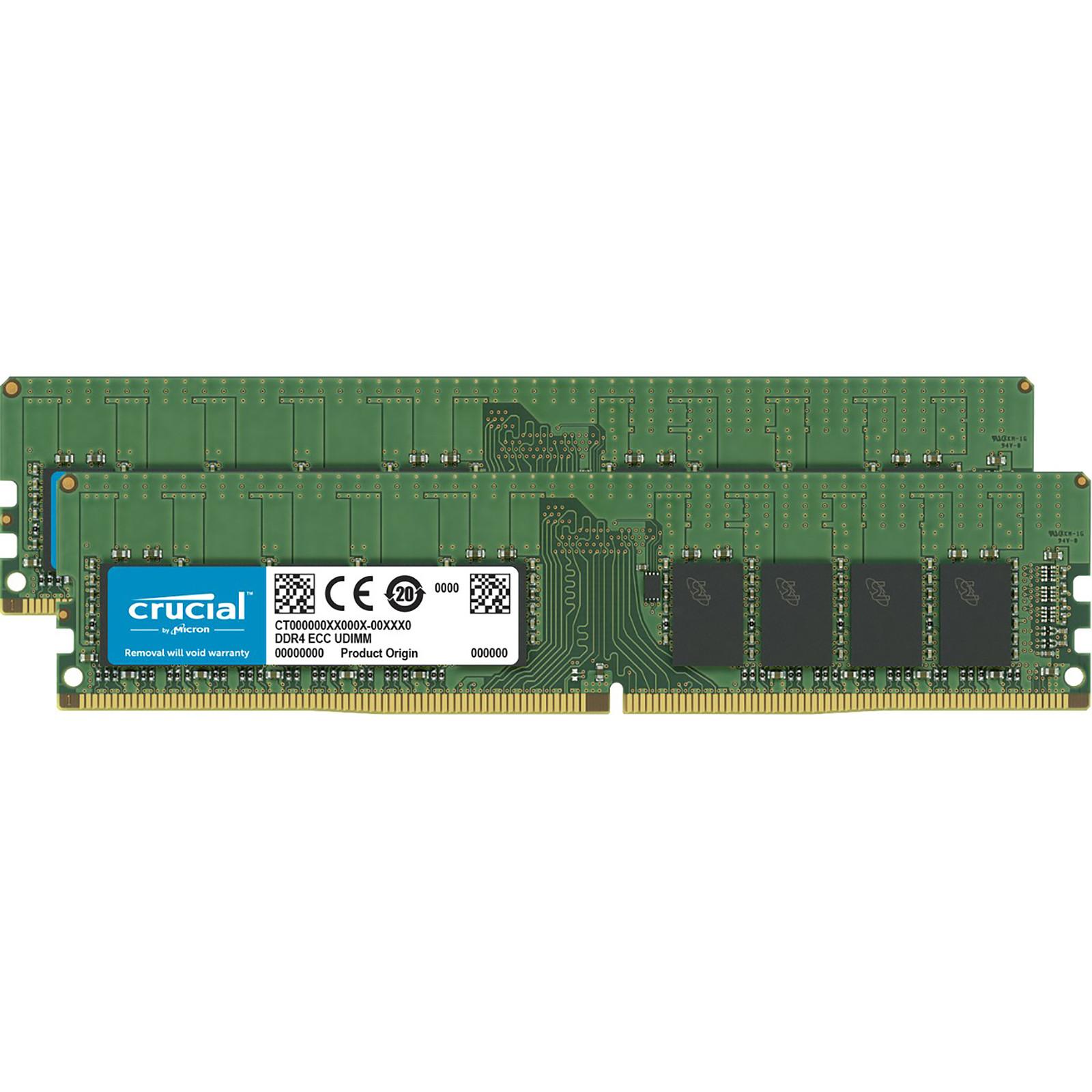 Crucial DDR4 32 Go (2 x 16 Go) 2933 MHz ECC Registered CL21 DR X4 · Occasion