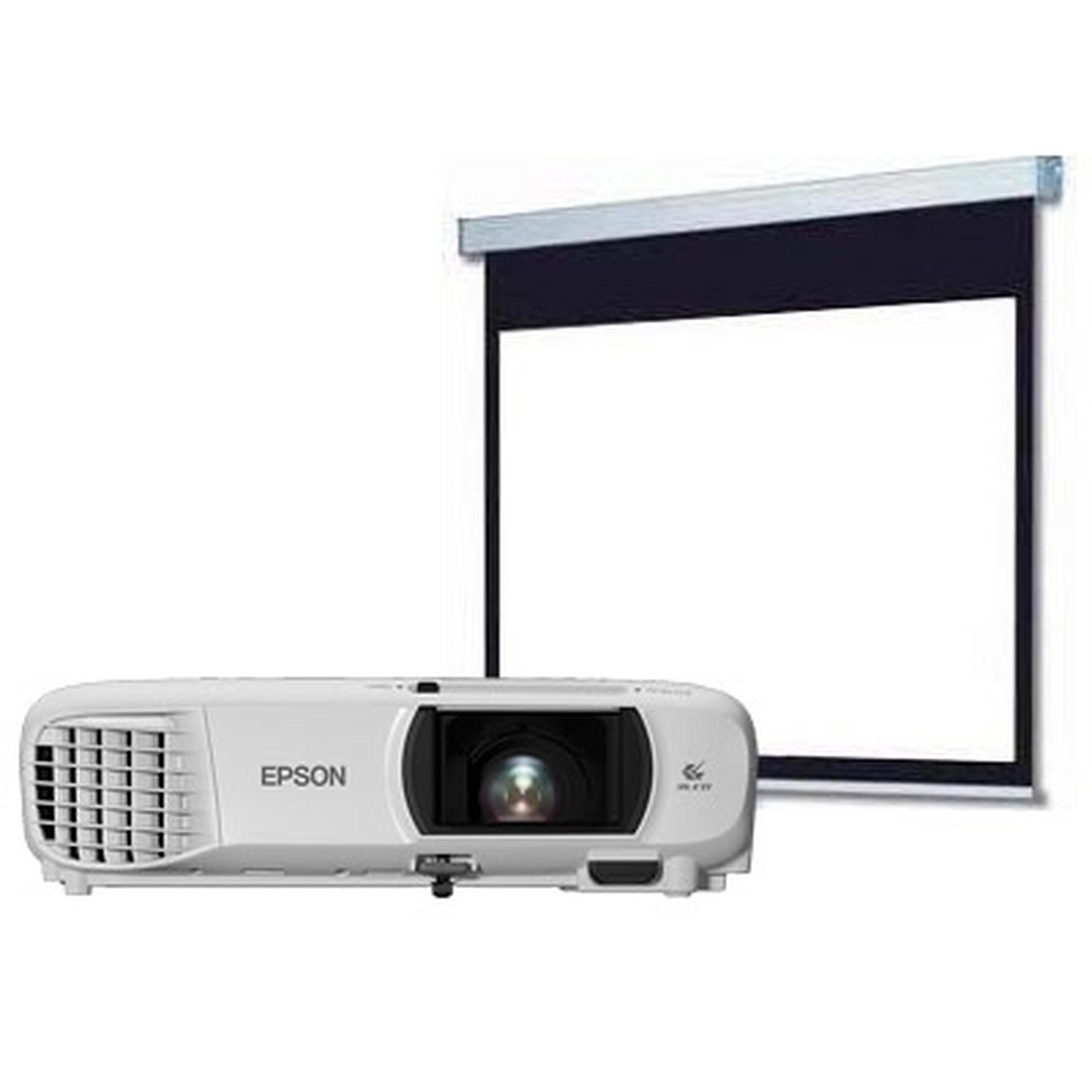 Epson EH-TW650 + LDLC Ecran Manuel - Format 16:9 - 200 x 113 cm