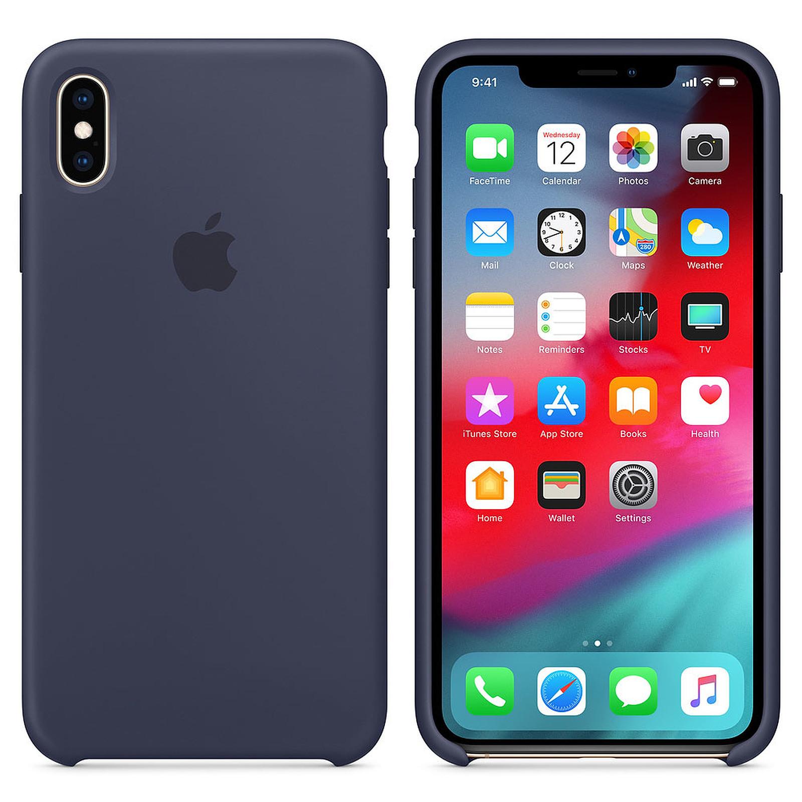 Apple Coque en silicone Bleu Nuit Apple iPhone Xs Max