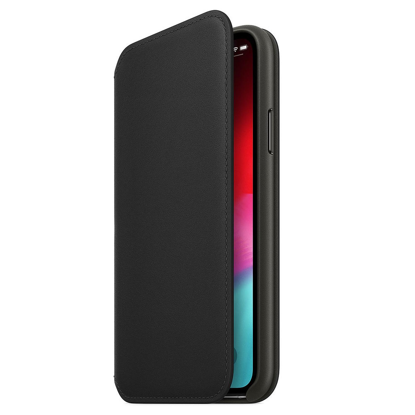 Apple Étui Folio en cuir Noir Apple iPhone Xs
