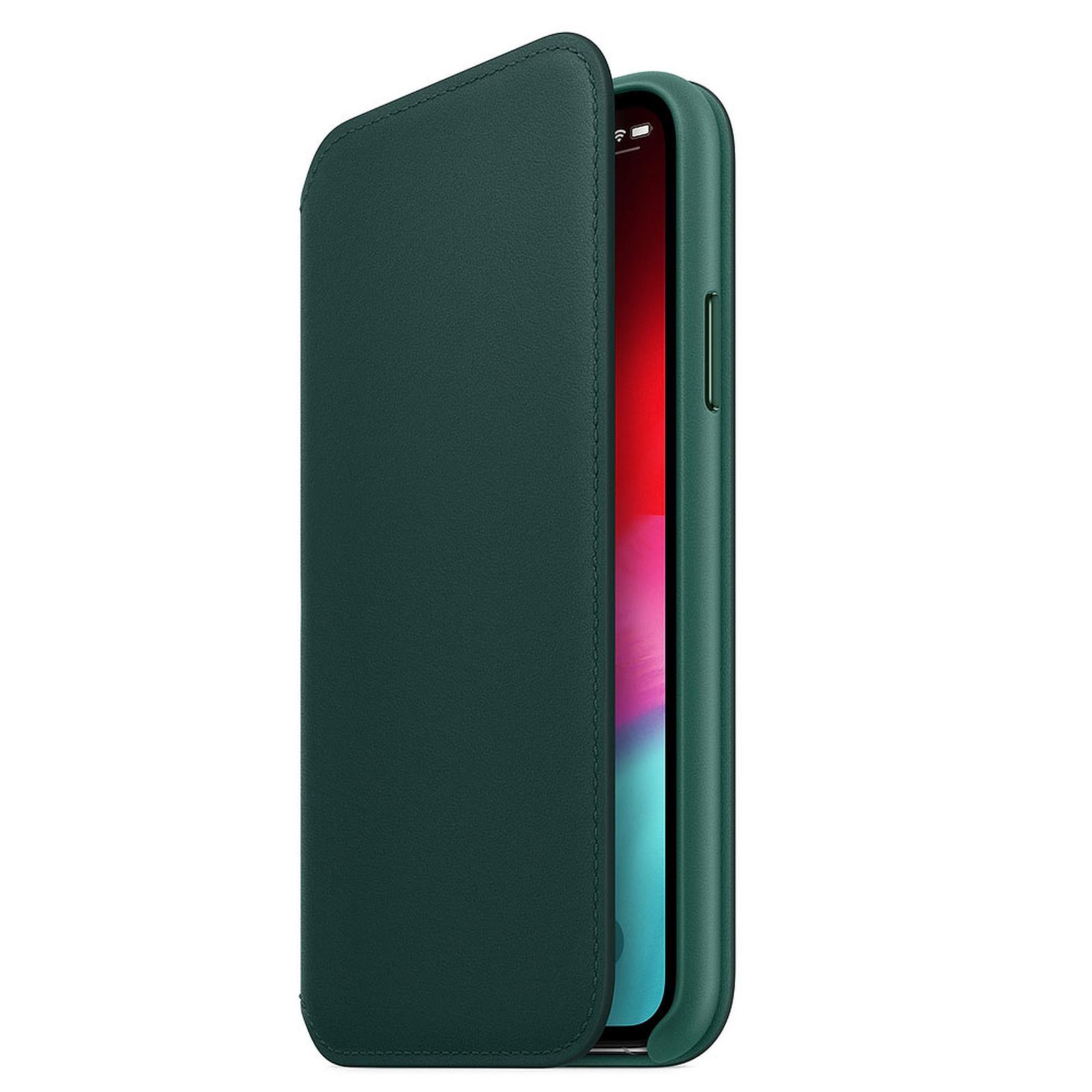Apple Étui Folio en cuir Vert Forêt Apple iPhone Xs