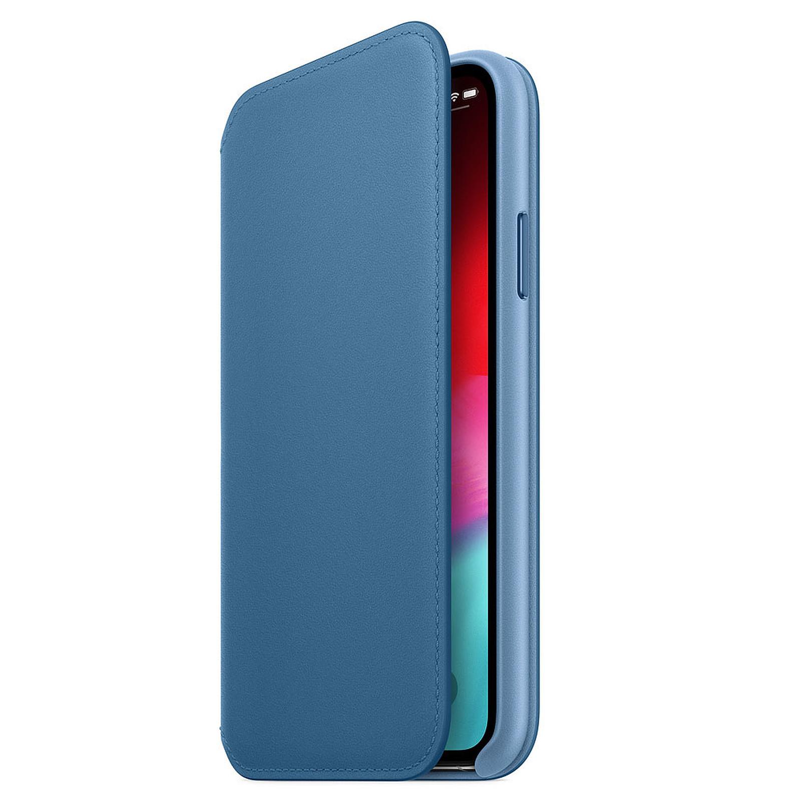 Apple Funda de piel Folio Azul Apple iPhone Xs
