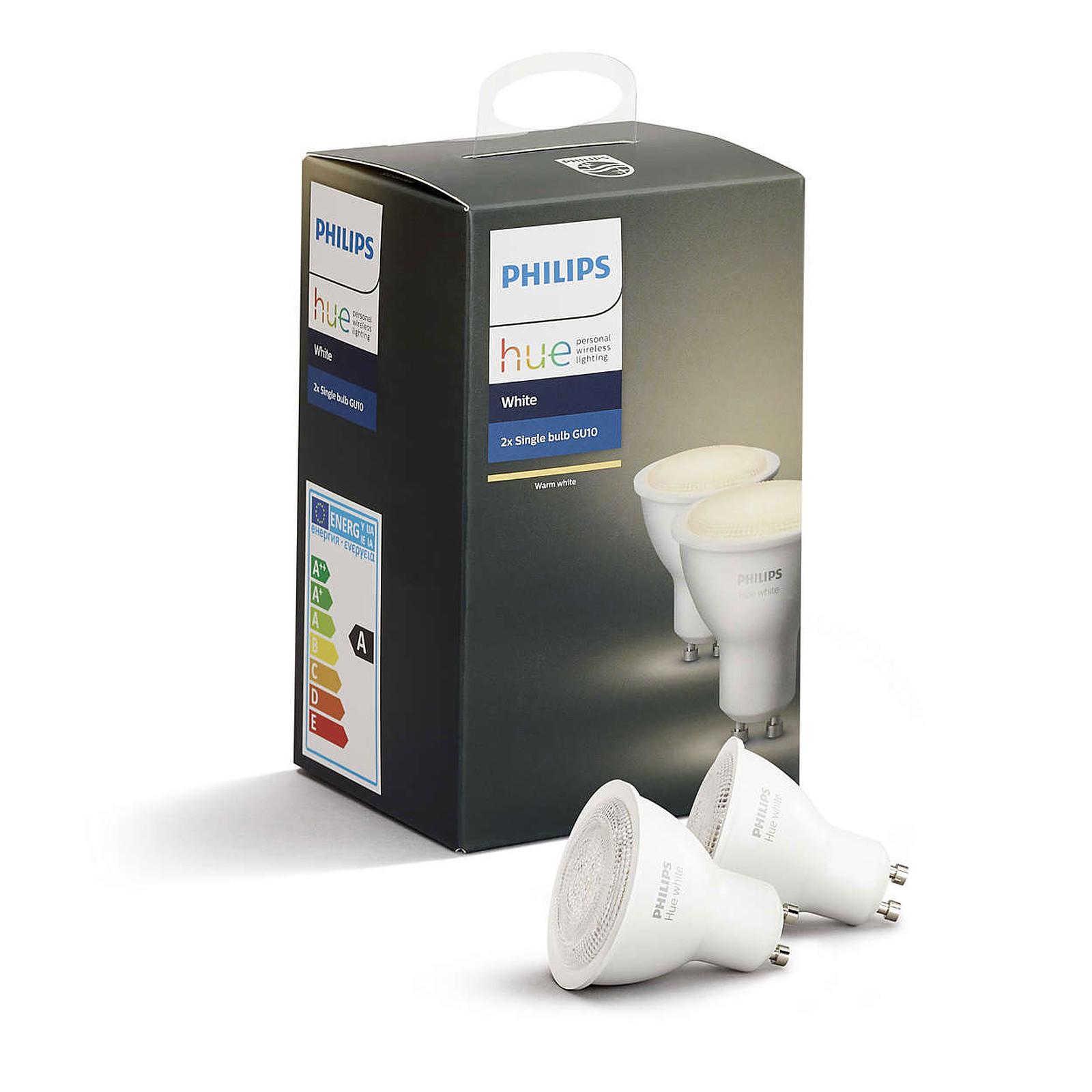 philips hue white gu10 x 2 ampoule connect e philips sur. Black Bedroom Furniture Sets. Home Design Ideas