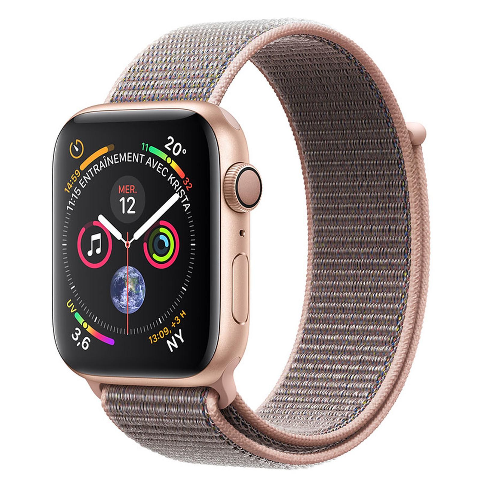 Apple Watch Series 4 GPS Aluminium Or Boucle Sport Rose 40 mm