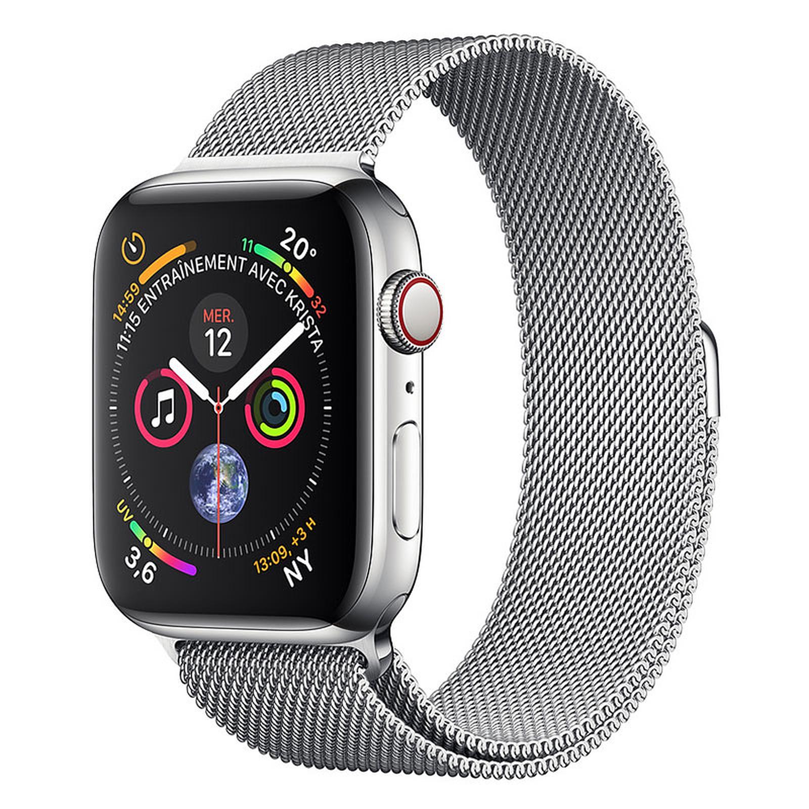 Apple Watch Series 4 GPS + Celular Silver Steel Milanese 44 mm
