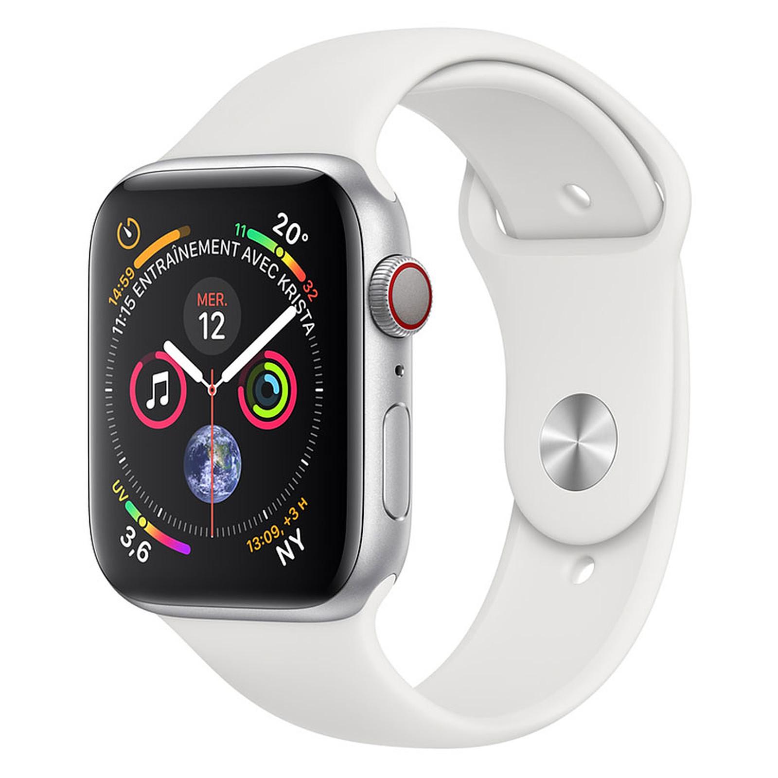Apple Watch Serie 4 GPS + Aluminio Celular Aluminio Plata Deportivo Blanco 44 mm