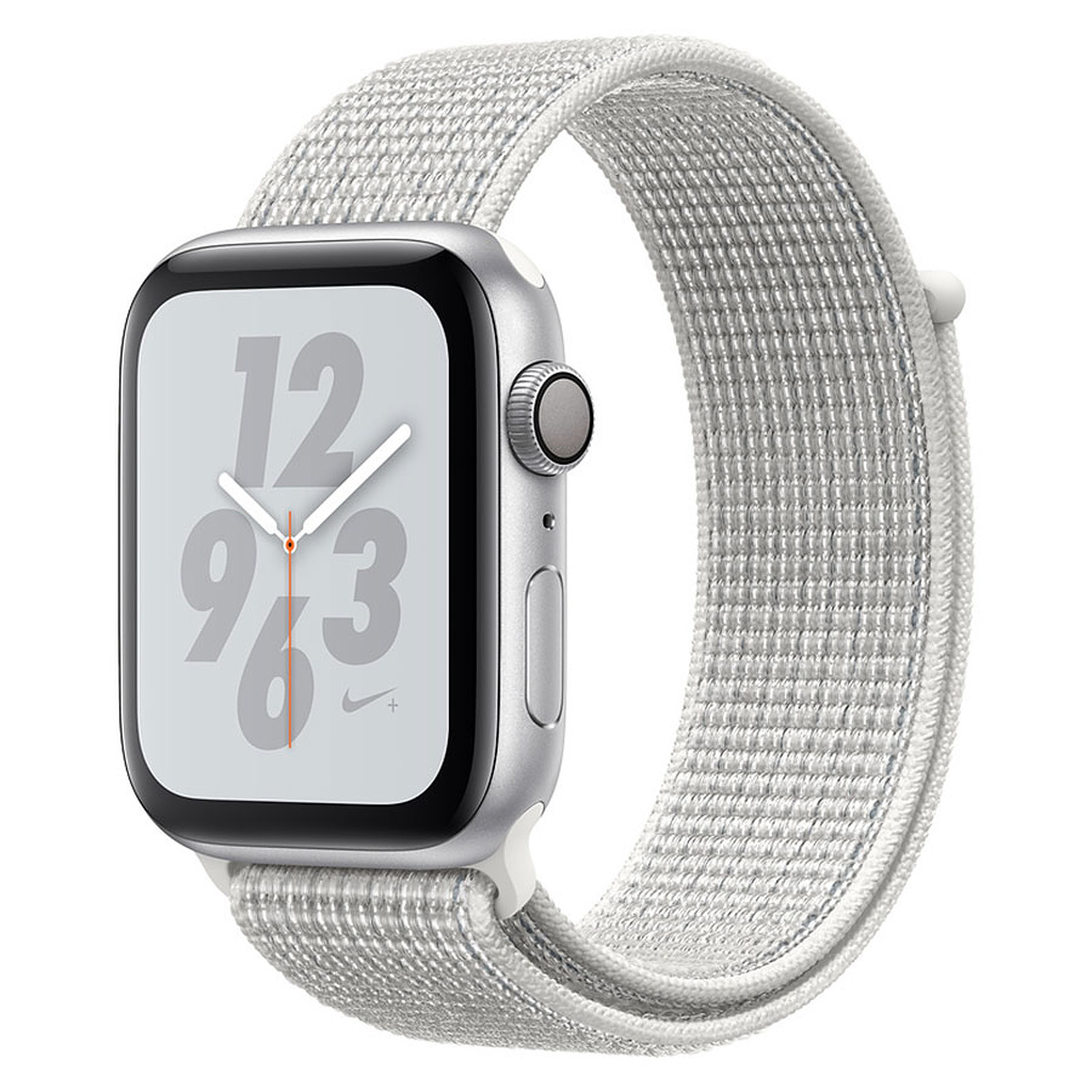 Apple Watch Nike+ Series 4 GPS Aluminium Argent Boucle Sport Blanc 40 mm