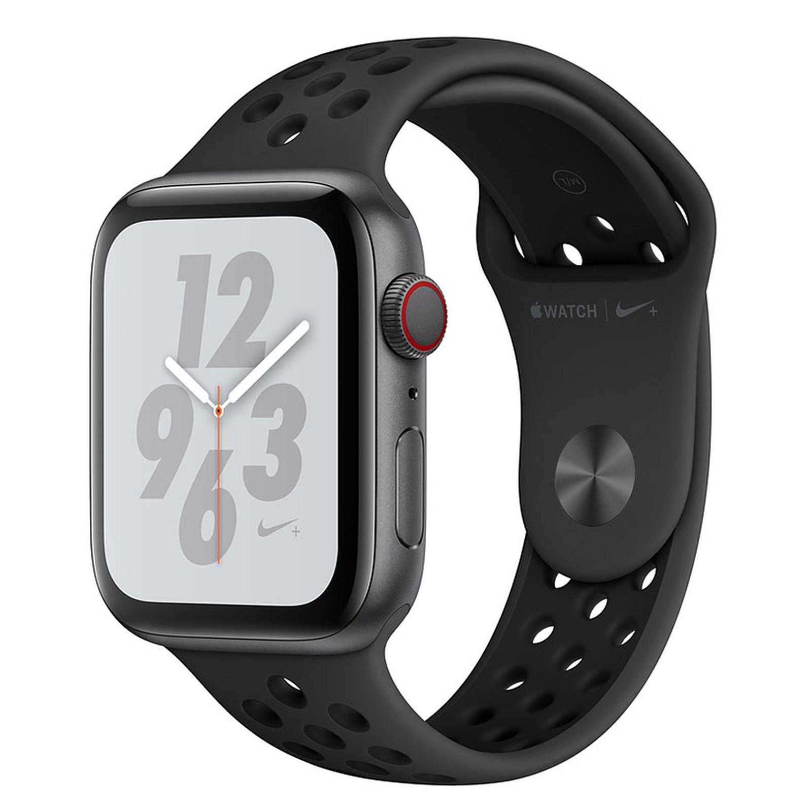 Apple Watch Nike+ Series 4 GPS + Cellular Aluminium Gris Sport Anthracite/Noir 44 mm