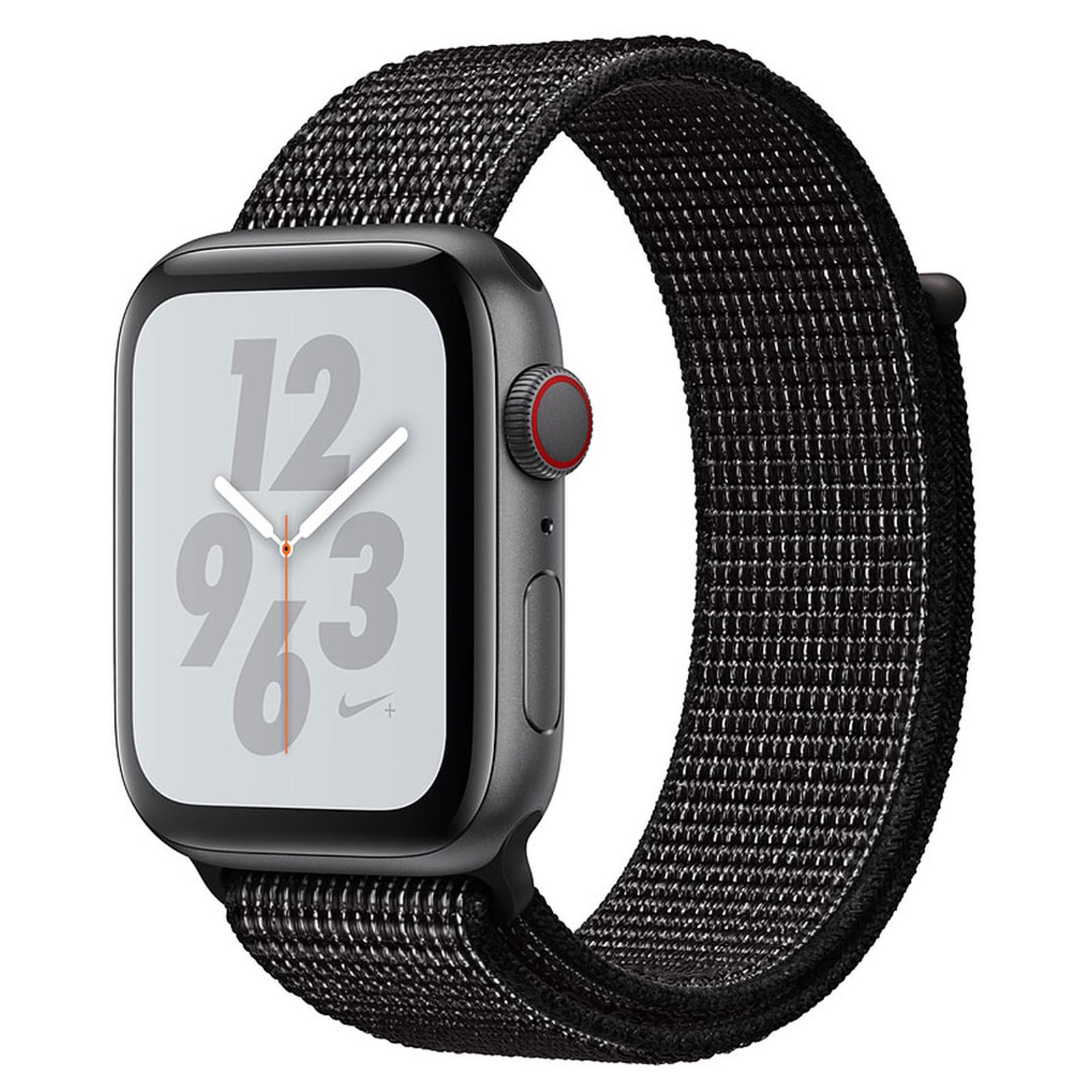 Apple Watch Nike+ Series 4 GPS + Cellular Aluminium Gris Boucle Sport Noir 44 mm