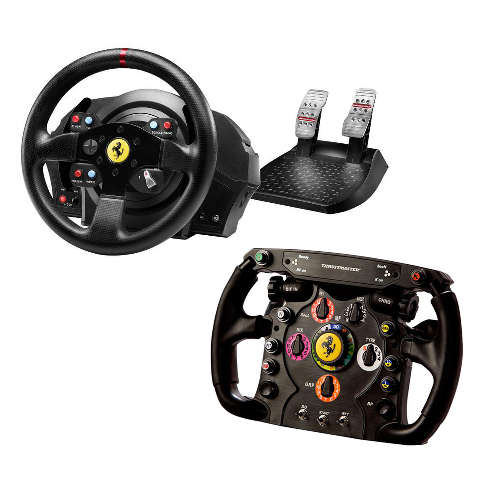 thrustmaster t300 ferrari gte wheel ferrari f1 wheel add. Black Bedroom Furniture Sets. Home Design Ideas
