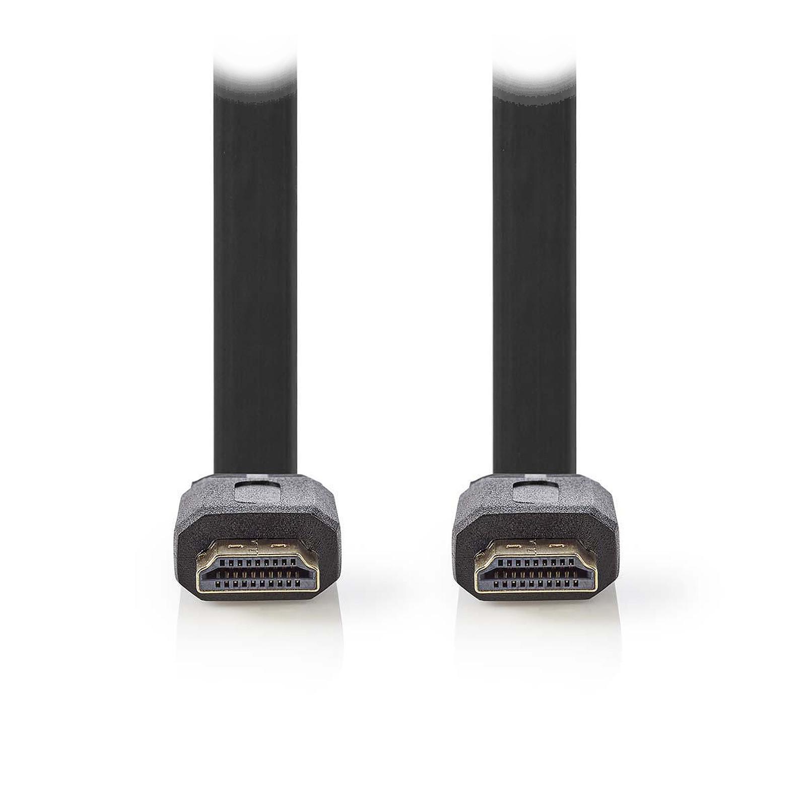 Nedis Câble HDMI plat haute vitesse avec Ethernet Noir (3 mètres)
