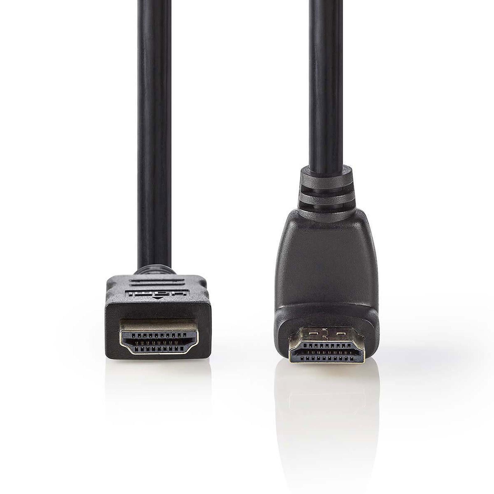Nedis Câble HDMI coudé à 90° haute vitesse avec Ethernet Noir (1.5 mètre)