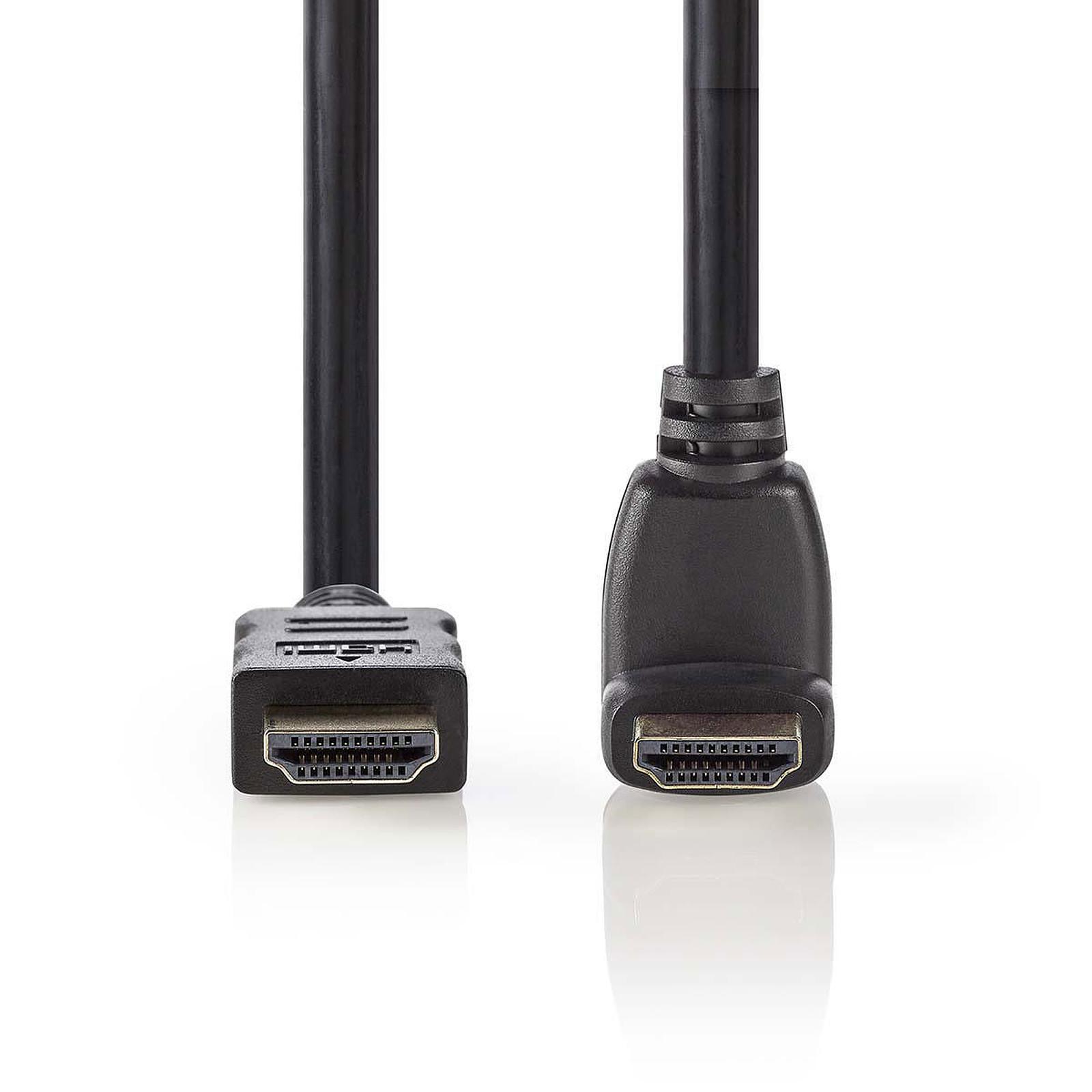 Nedis Câble HDMI coudé à 270° haute vitesse avec Ethernet Noir (1.5 mètre)