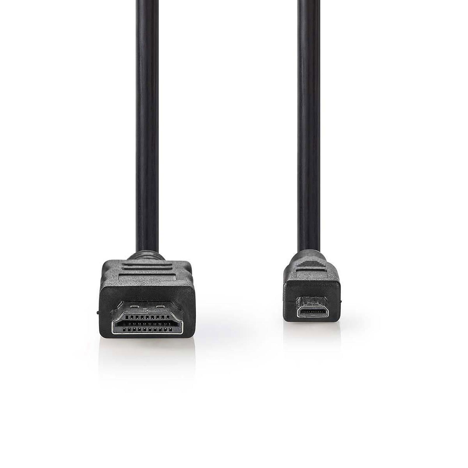Nedis Câble Micro HDMI mâle / HDMI mâle haute vitesse avec Ethernet Noir (1.5 mètre)