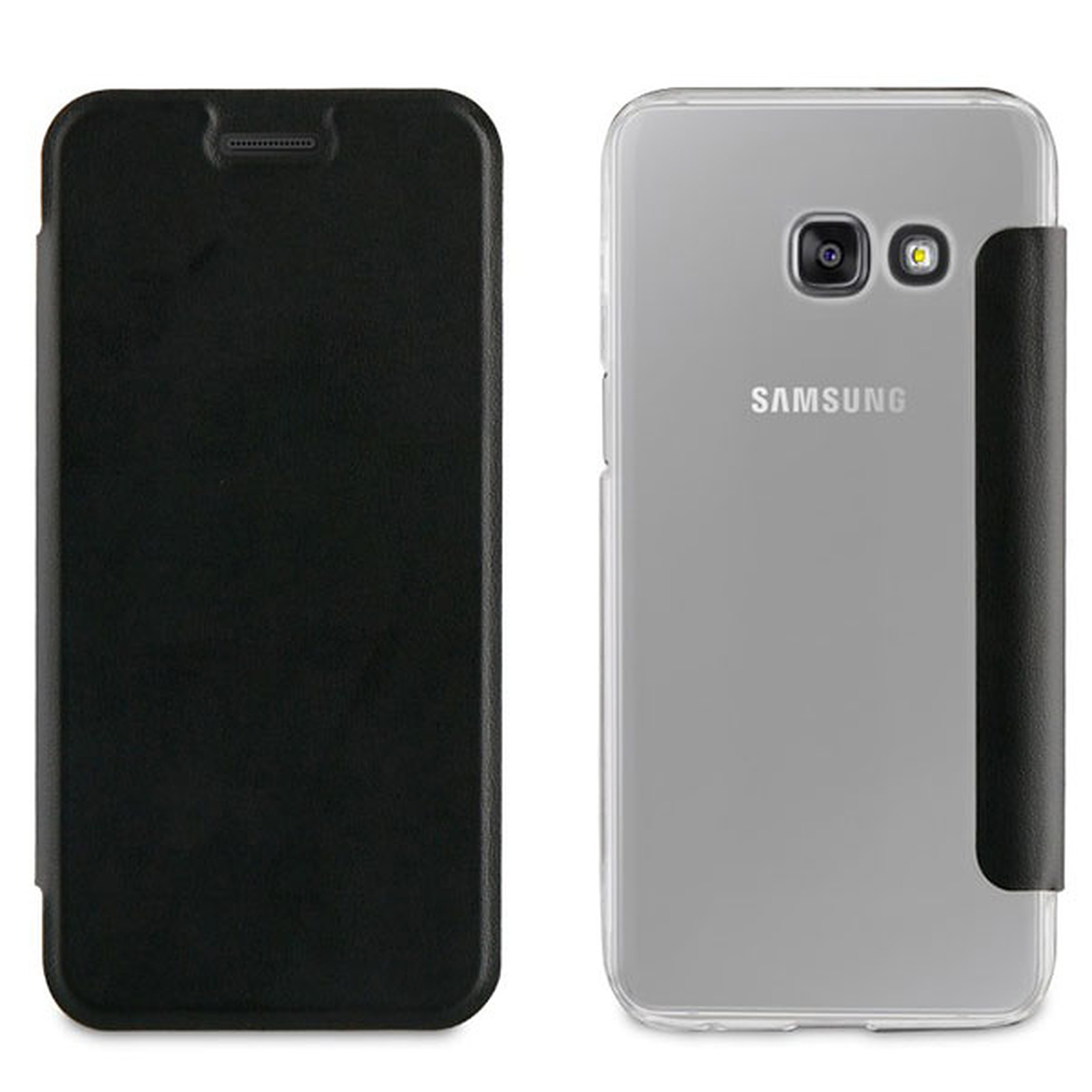 Akashi Etui Folio Noir Galaxy A5 2017