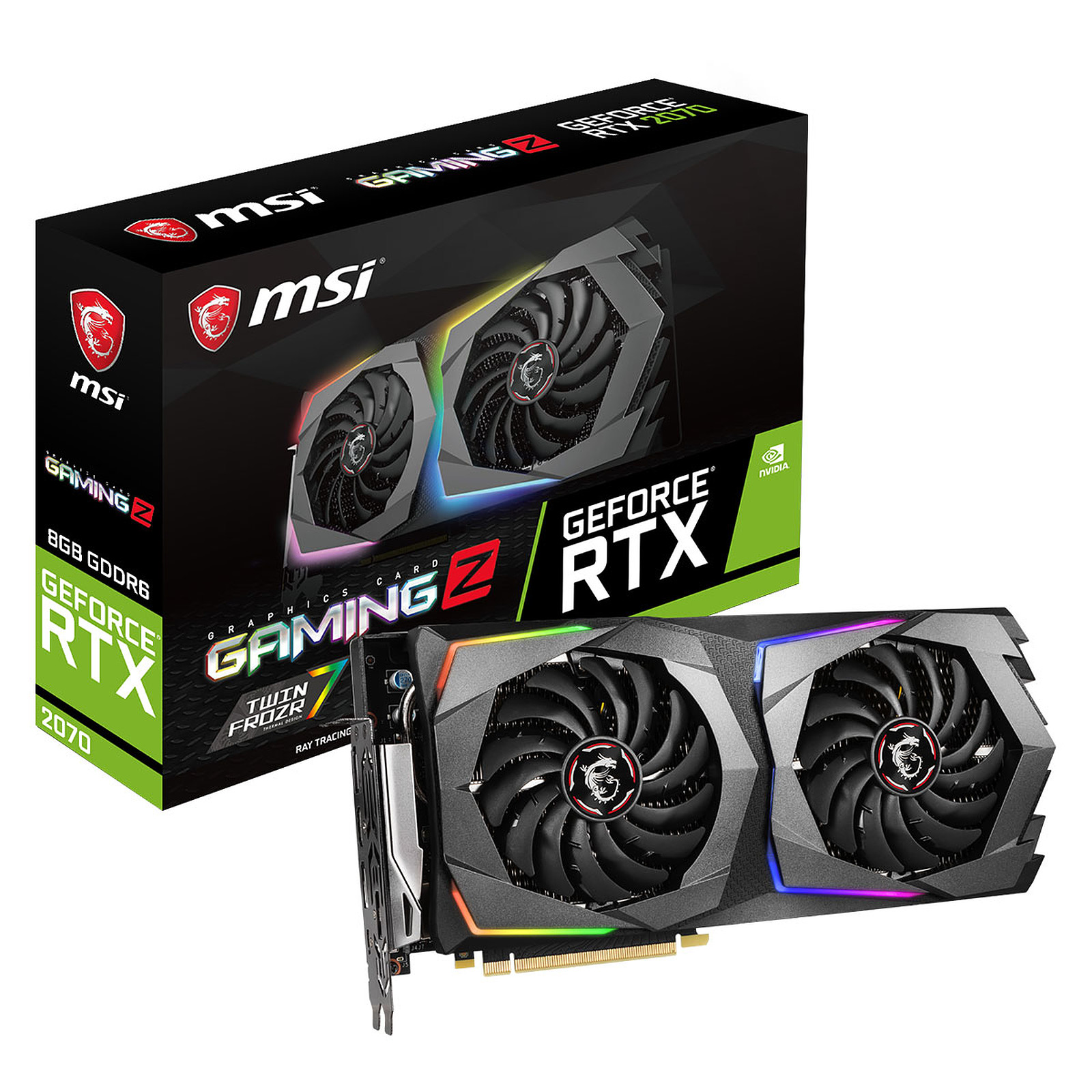MSI GeForce RTX 2070 GAMING Z 8G - Carte graphique MSI sur
