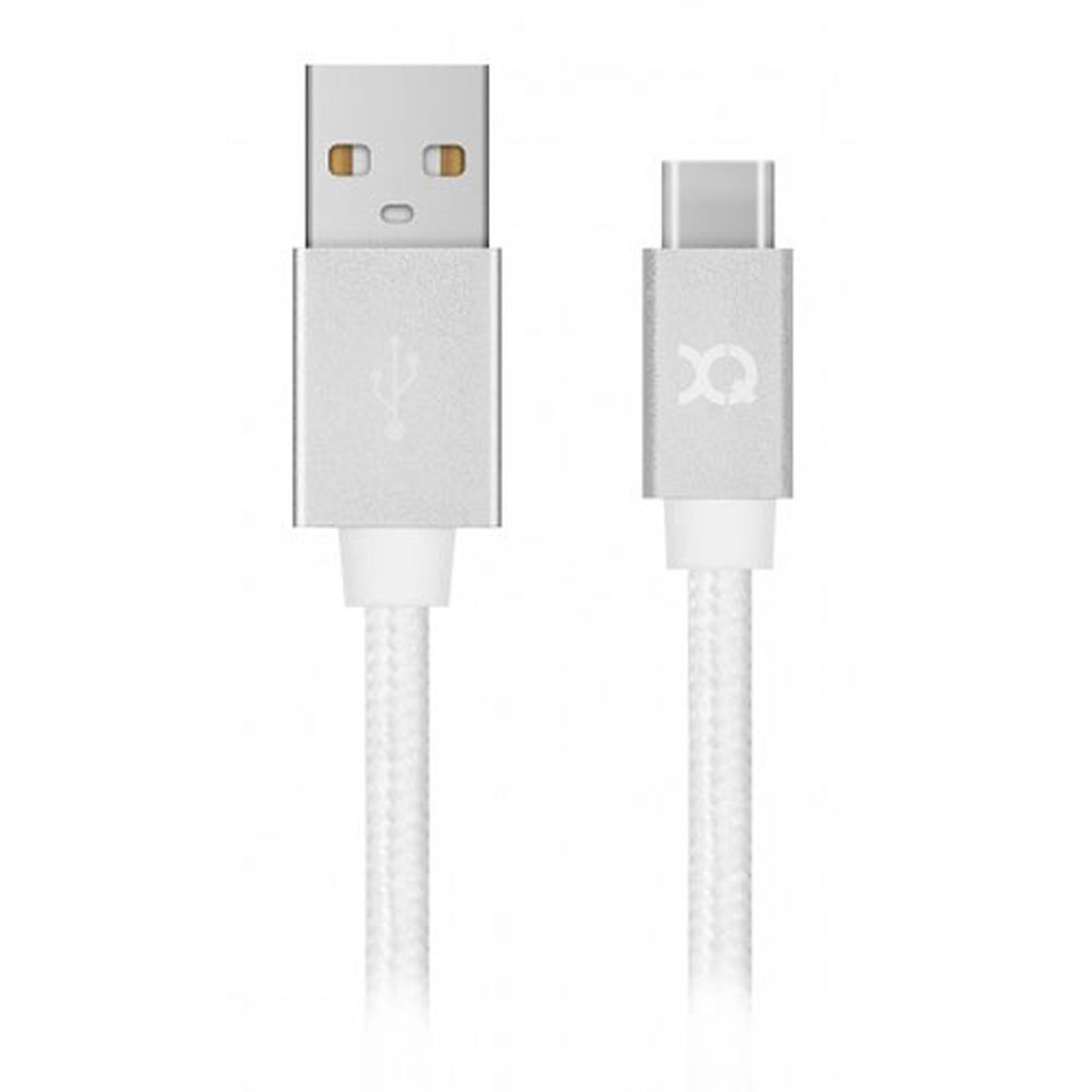 xqisit Charge & Sync USB-A / USB-C Blanc - 1.8m