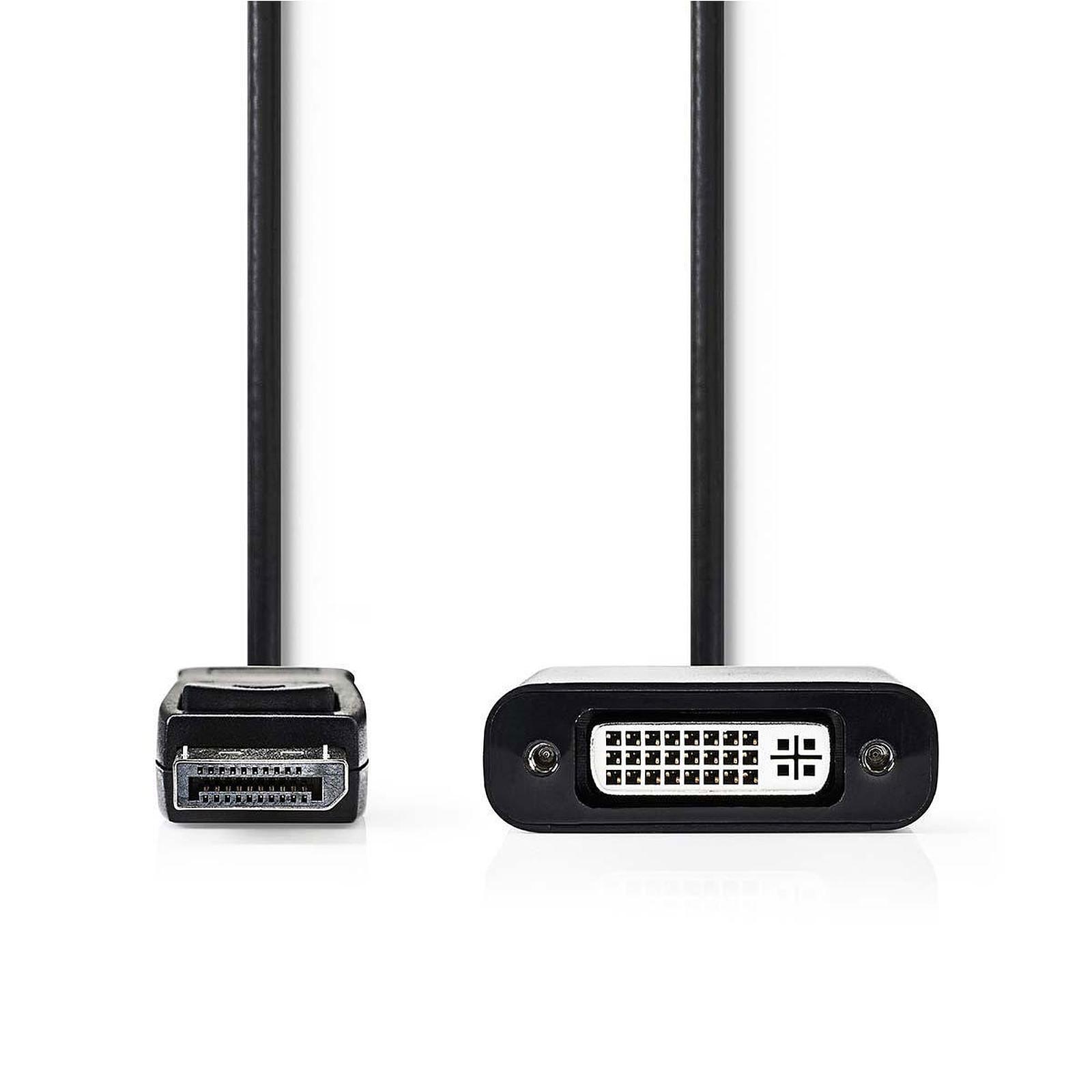 Nedis Câble DisplayPort mâle vers DVI-D femelle (20 cm)
