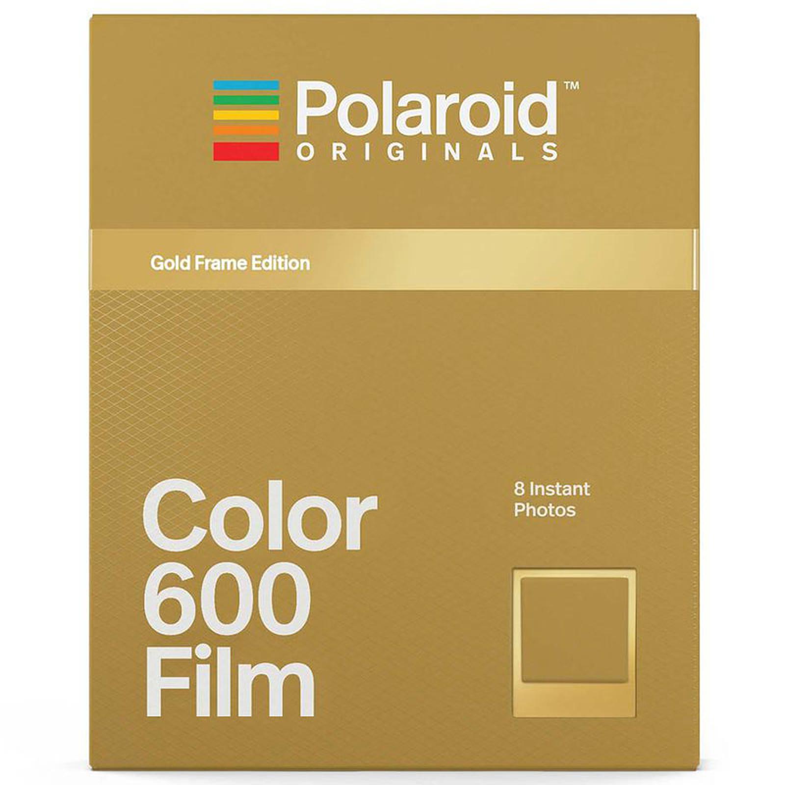 Polaroid Color 600 Película (marco dorado)