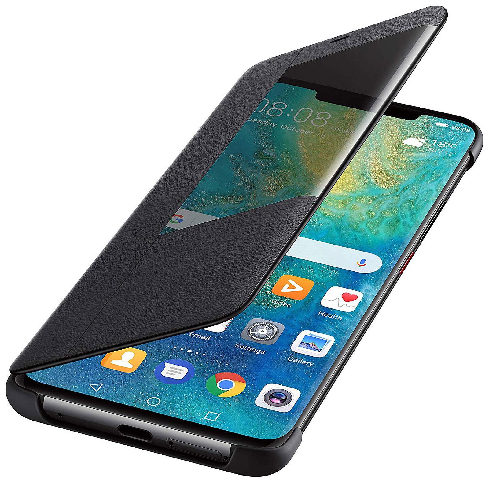 Huawei View Flip Noir Mate 20 Pro - Coque téléphone Huawei