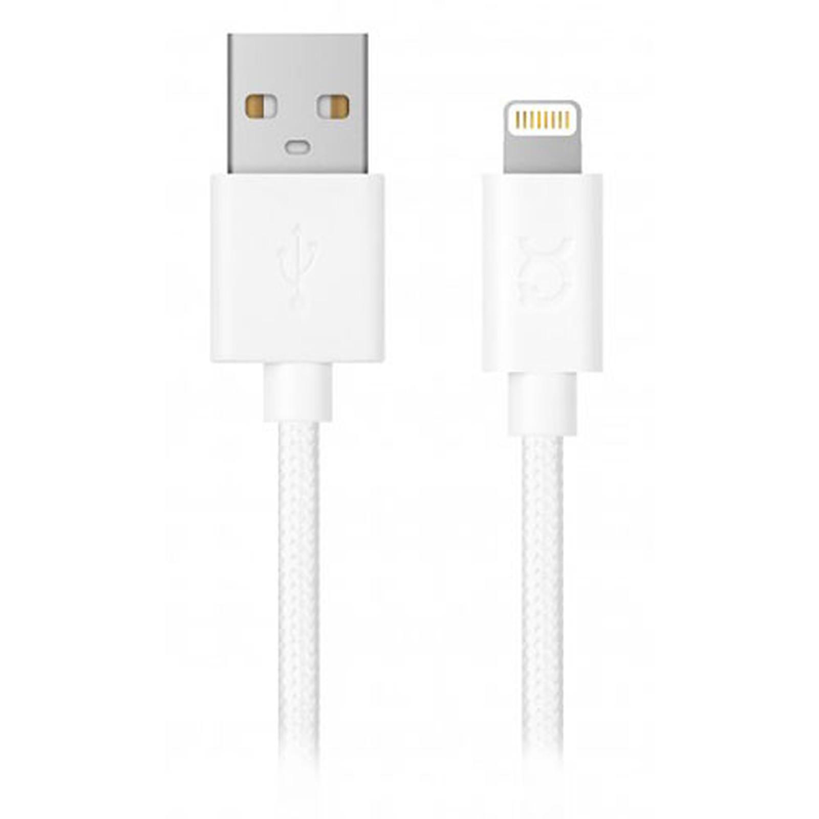 xqisit Charge & Sync USB-A / Lightning Blanc - 1.8m