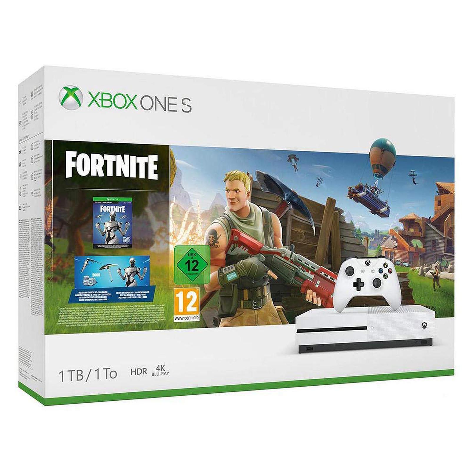Microsoft Xbox One S (1 To) + Fortnite