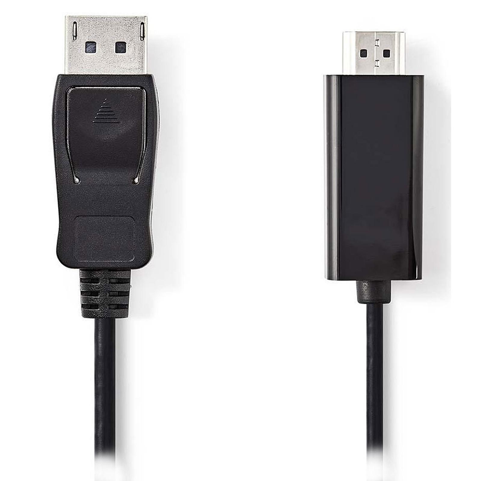 Nedis Câble DisplayPort mâle vers HDMI mâle (2 m)
