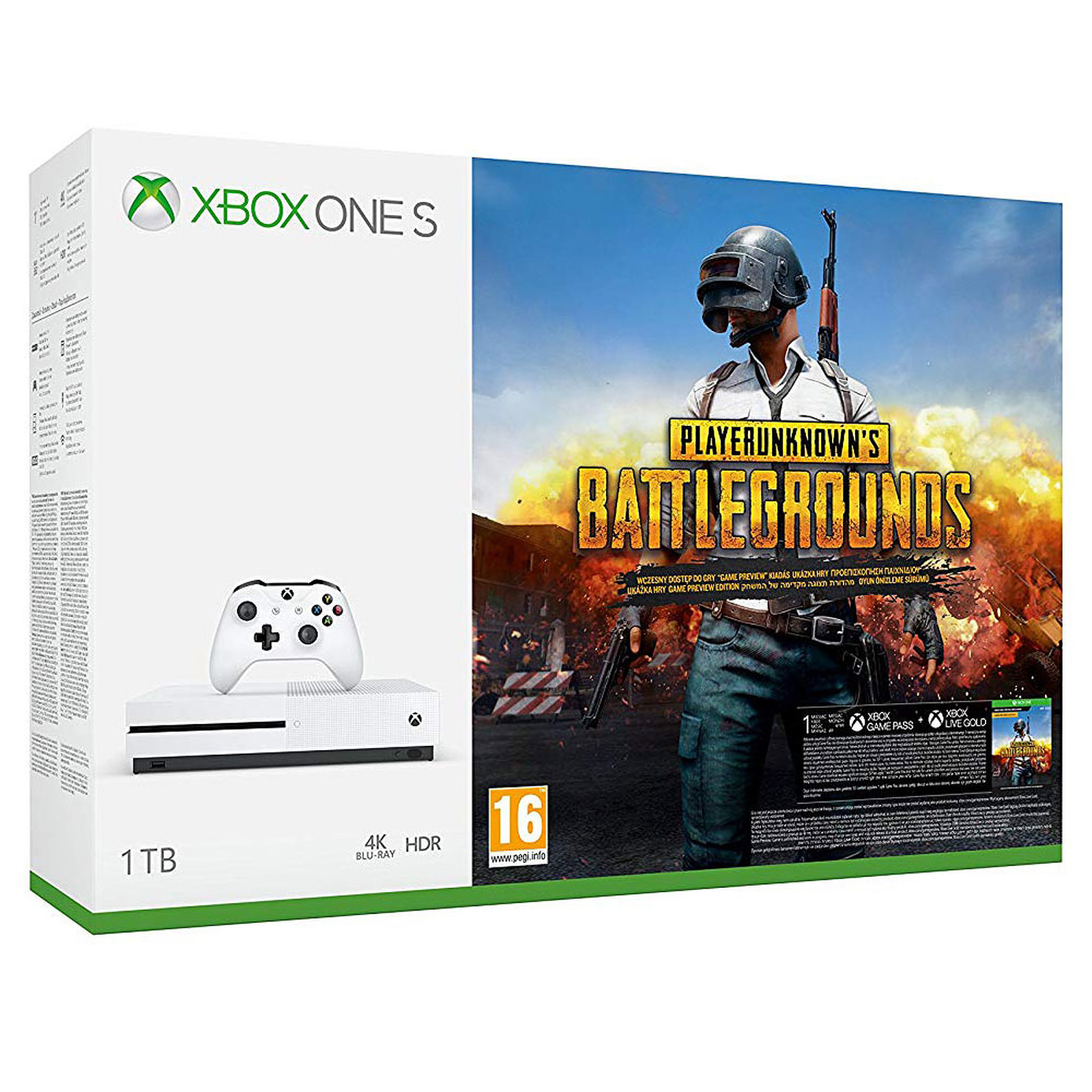 Microsoft Xbox One S (1 To) + PlayerUnknown's Battlegrounds (PUBG)