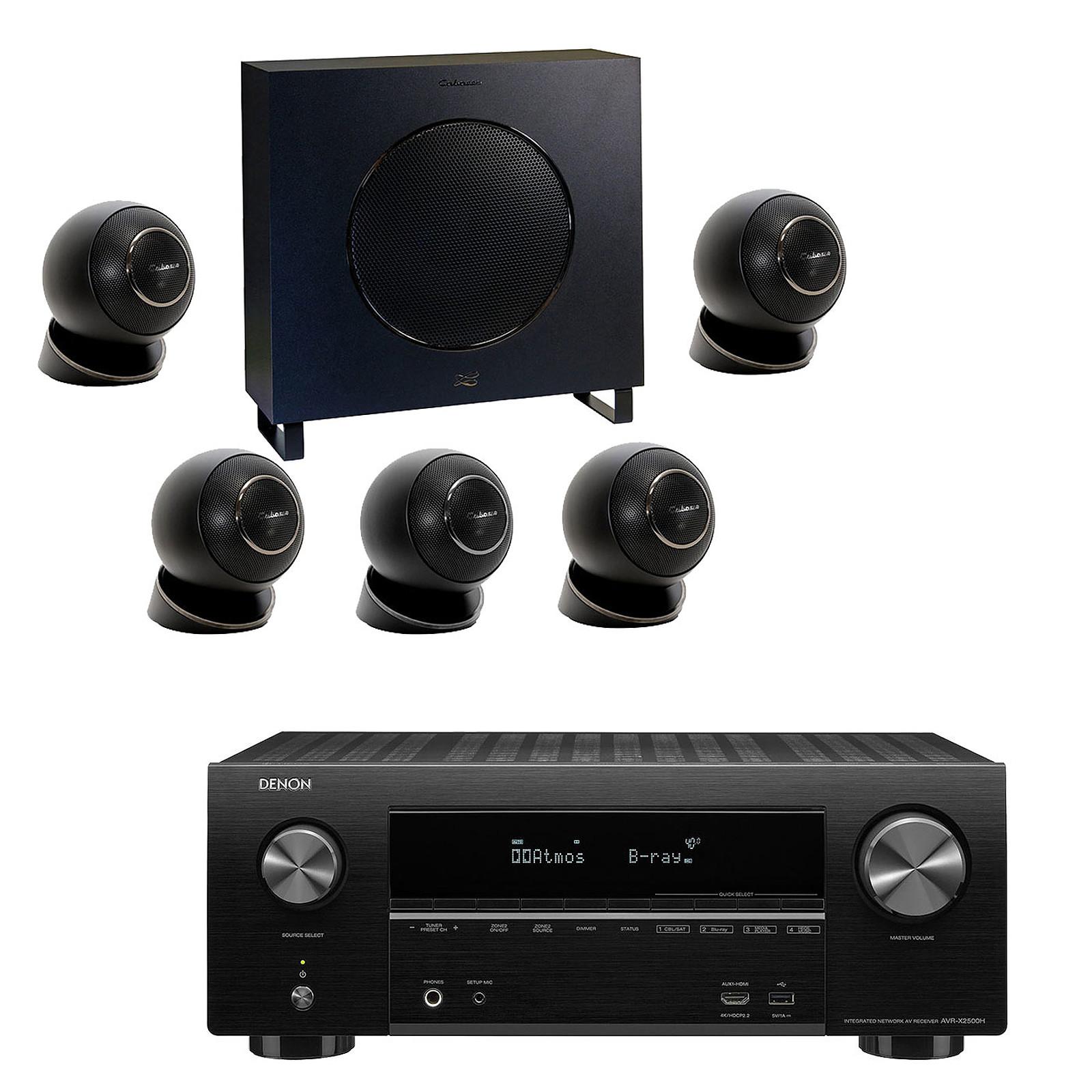 Denon AVR-X2500H Noir + Cabasse Eole 4 Noir