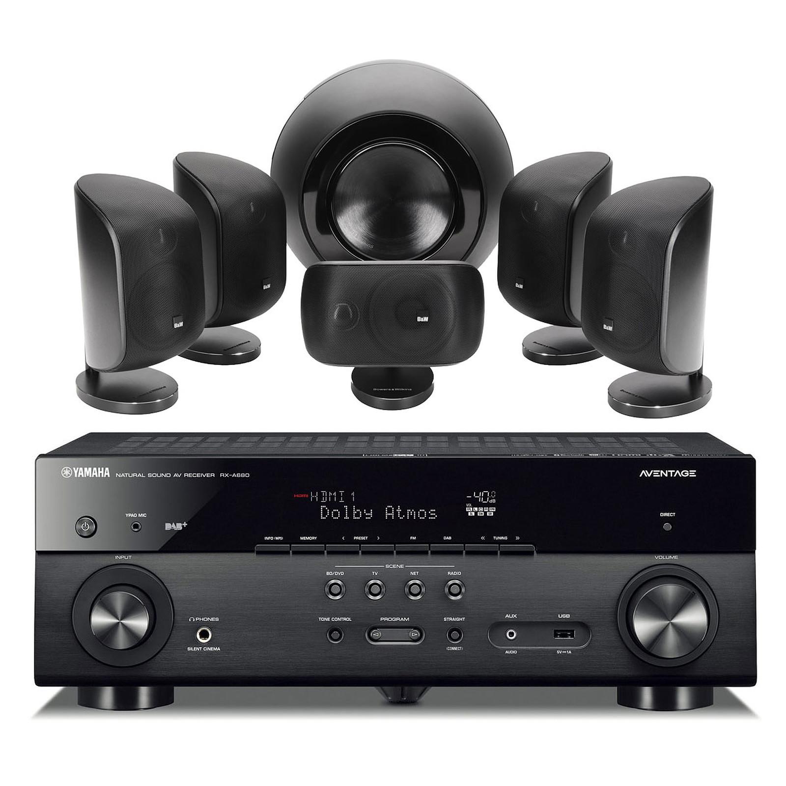 Yamaha MusicCast RX-A680 Noir + B&W MT-60 Noir