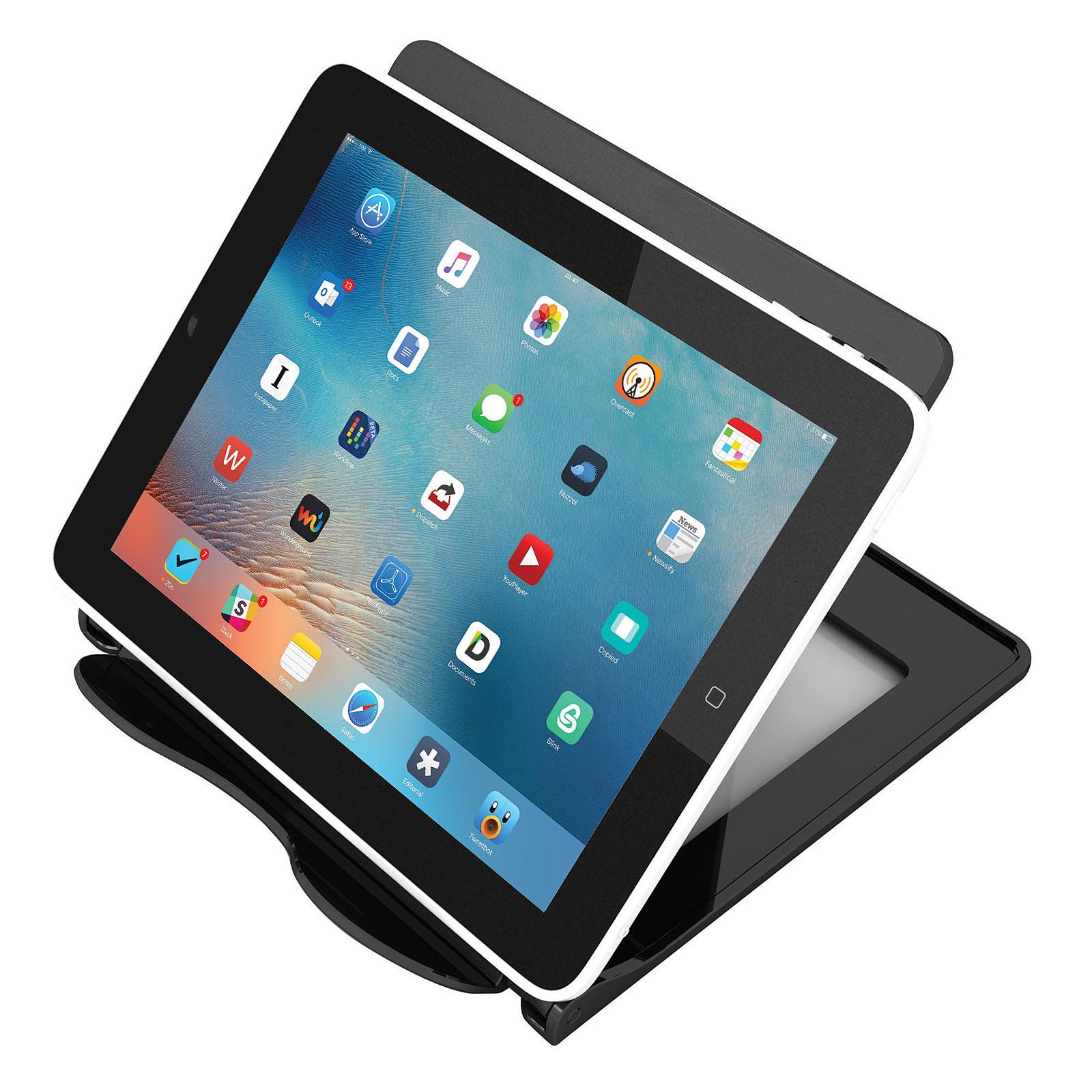 deflecto Porte-tablette piliable noir