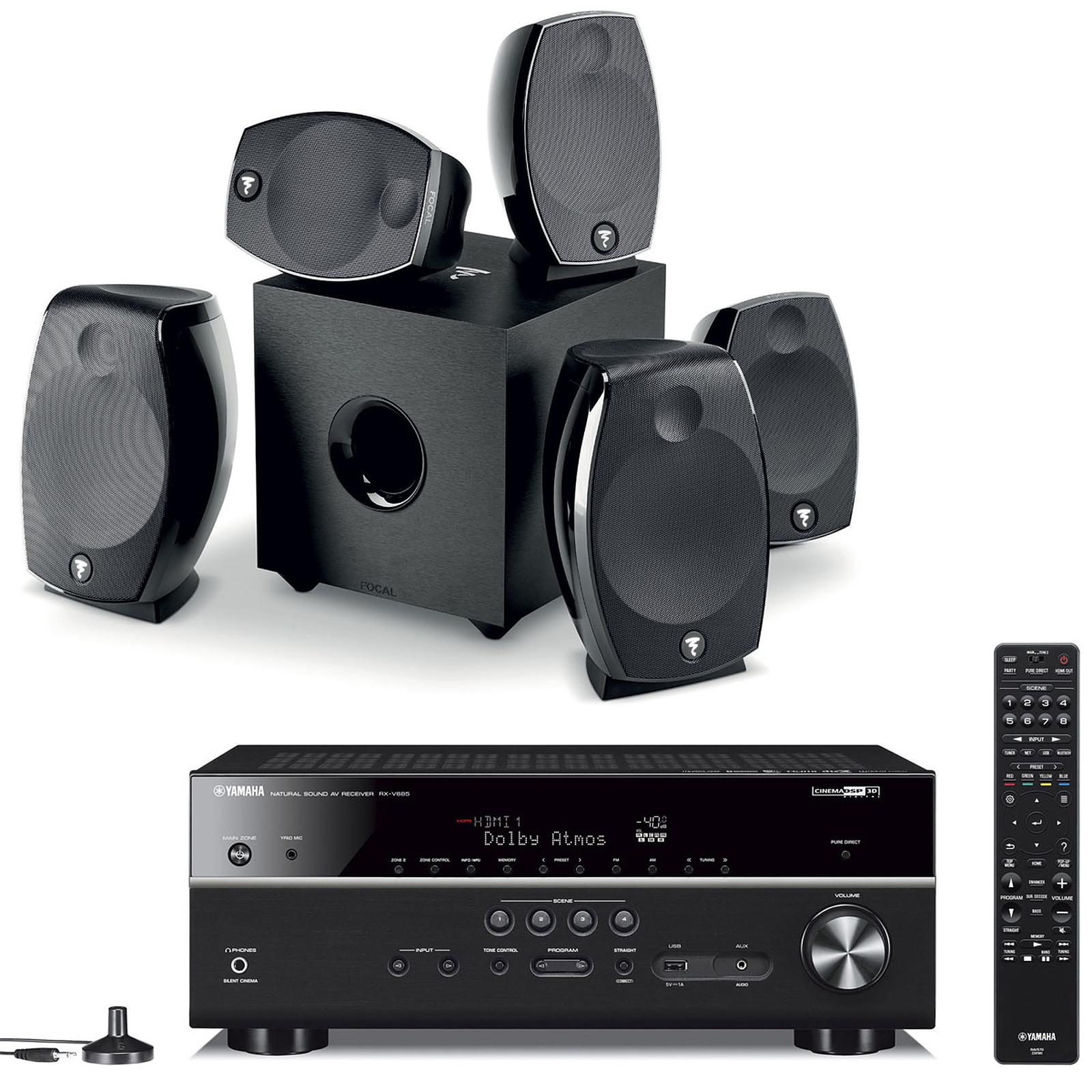 Yamaha RX-V685 Noir + Focal Sib Evo 5.1.2 Dolby Atmos