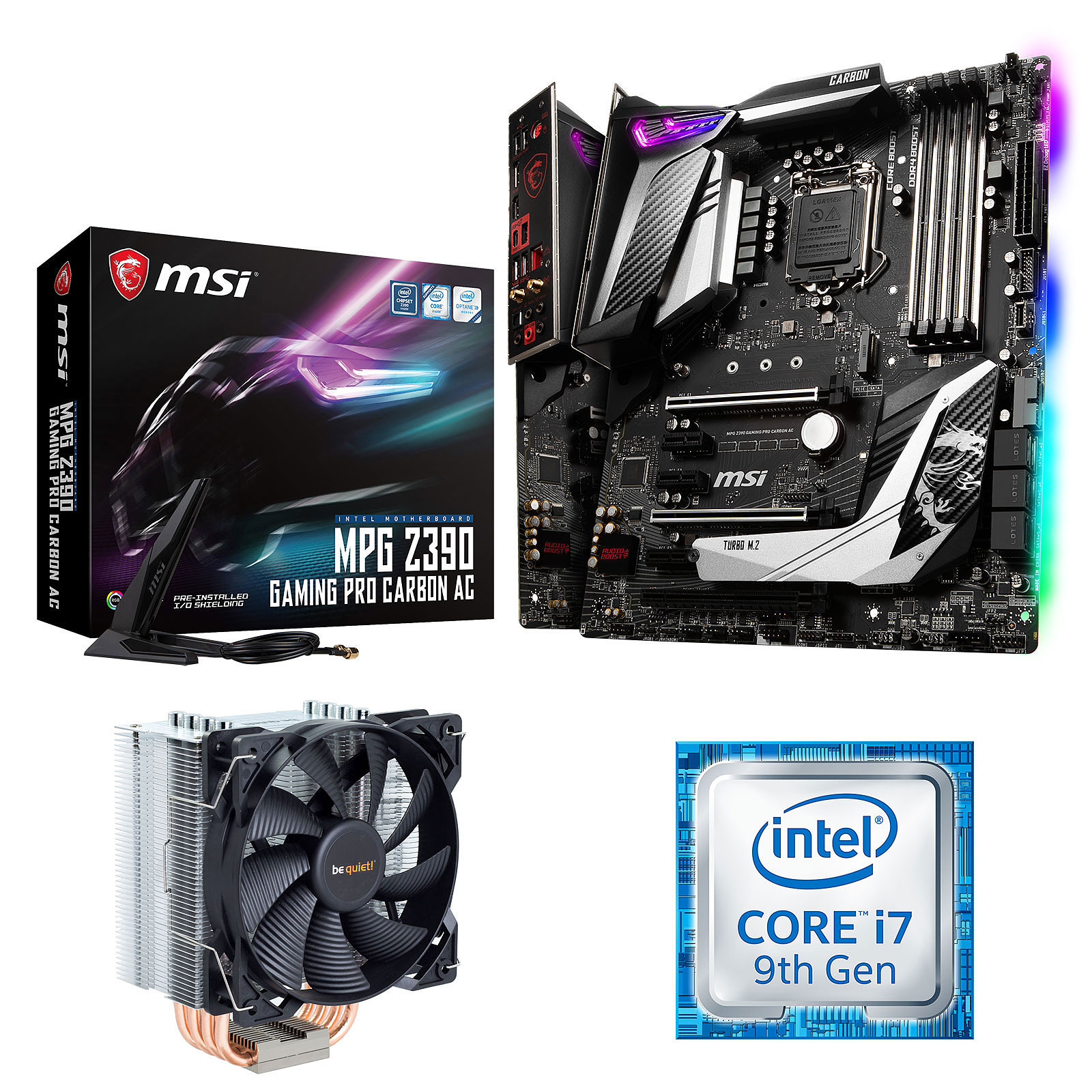 Kit Upgrade PC Core i7 MSI MPG Z390 GAMING PRO CARBON AC