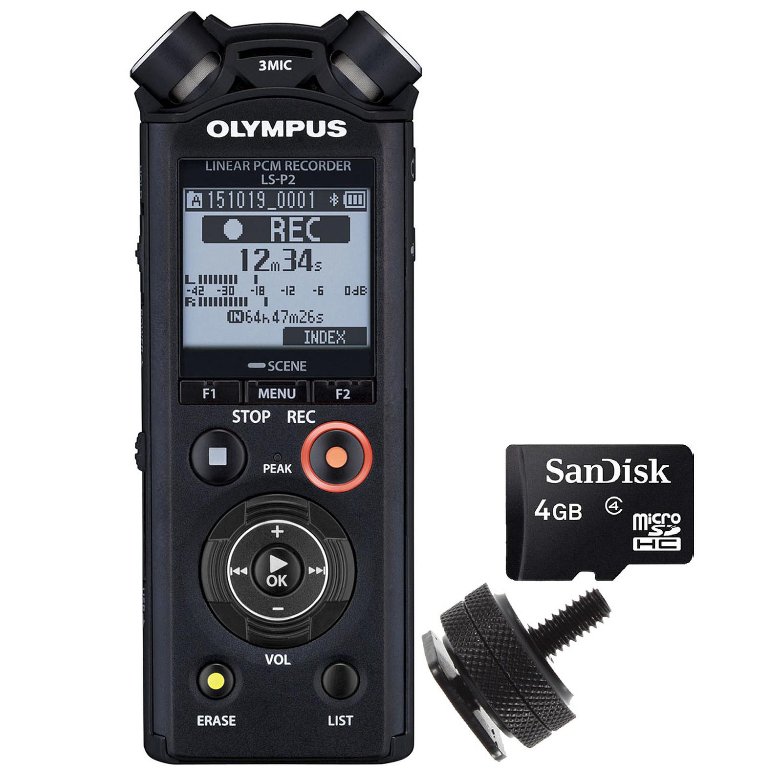 Olympus LS-P2 + Adaptador Flash + Tarjeta MicroSD de 4GB