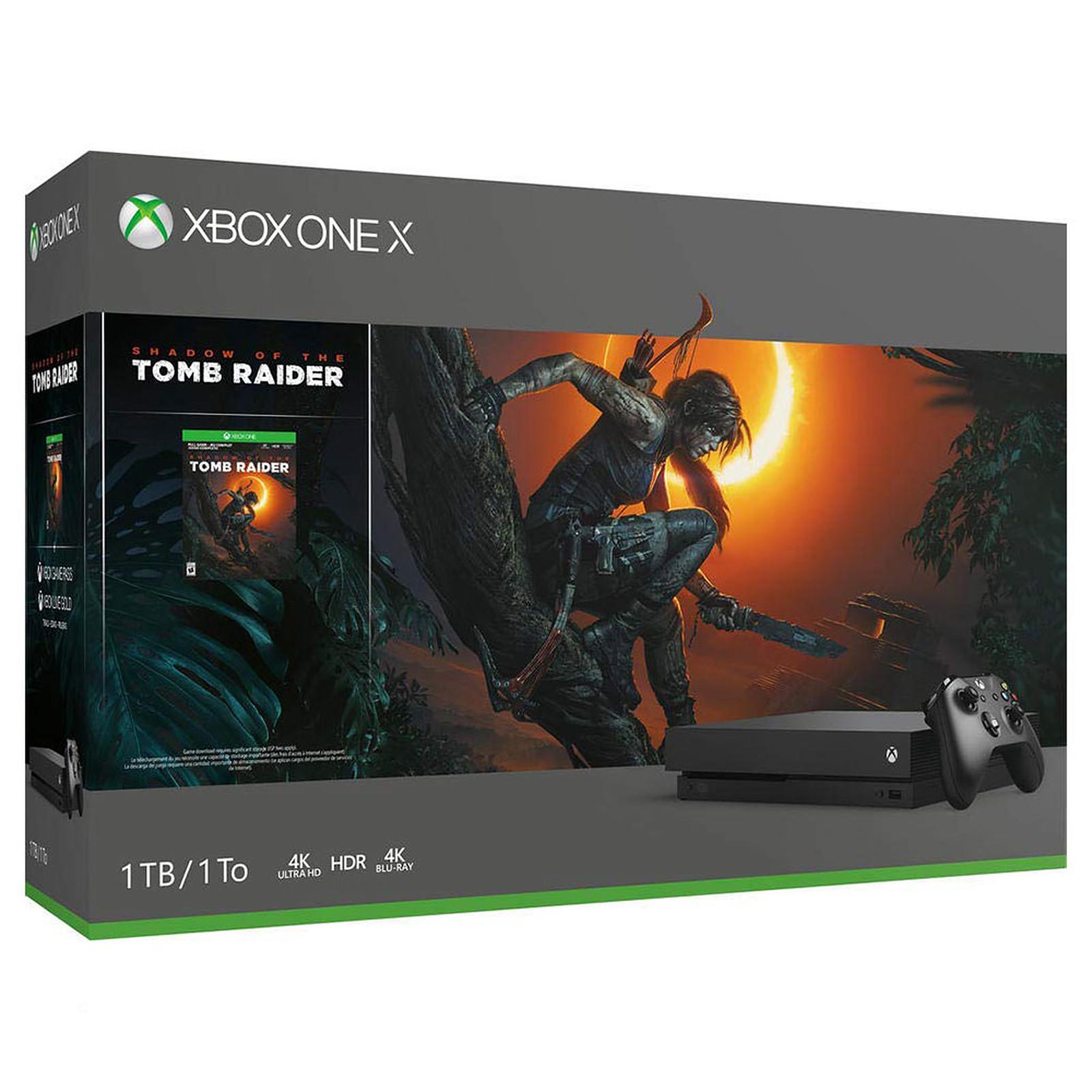 Microsoft Xbox One X (1 To) + Shadow of the Tomb Raider